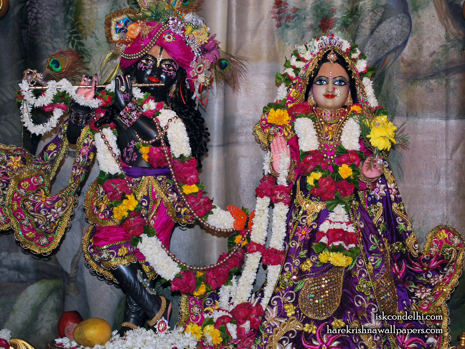 Sri Sri Radha Parthasarathi Wallpaper (002) Size1600x1200 Download