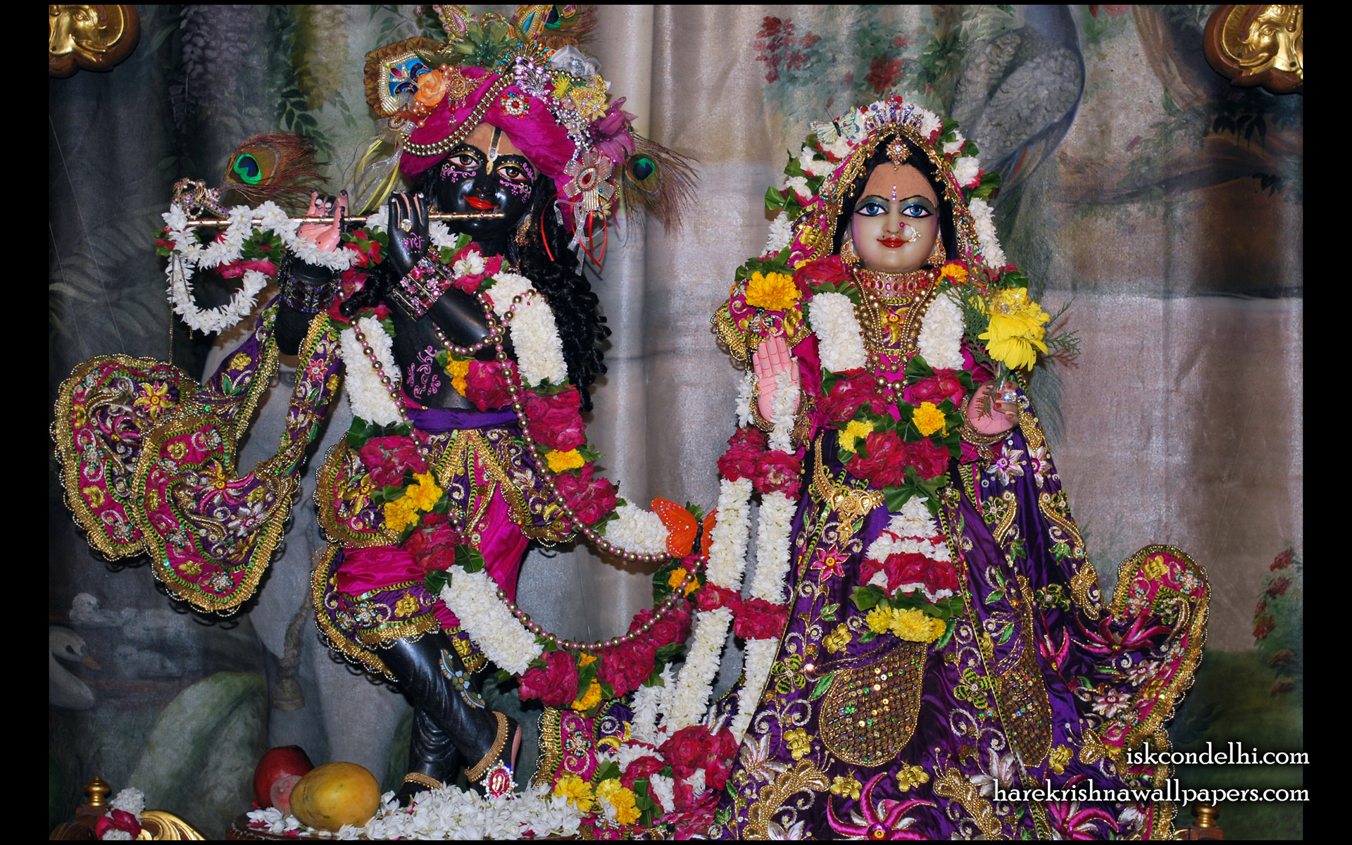 Sri Sri Radha Parthasarathi Wallpaper (002) Size 1920x1200 Download