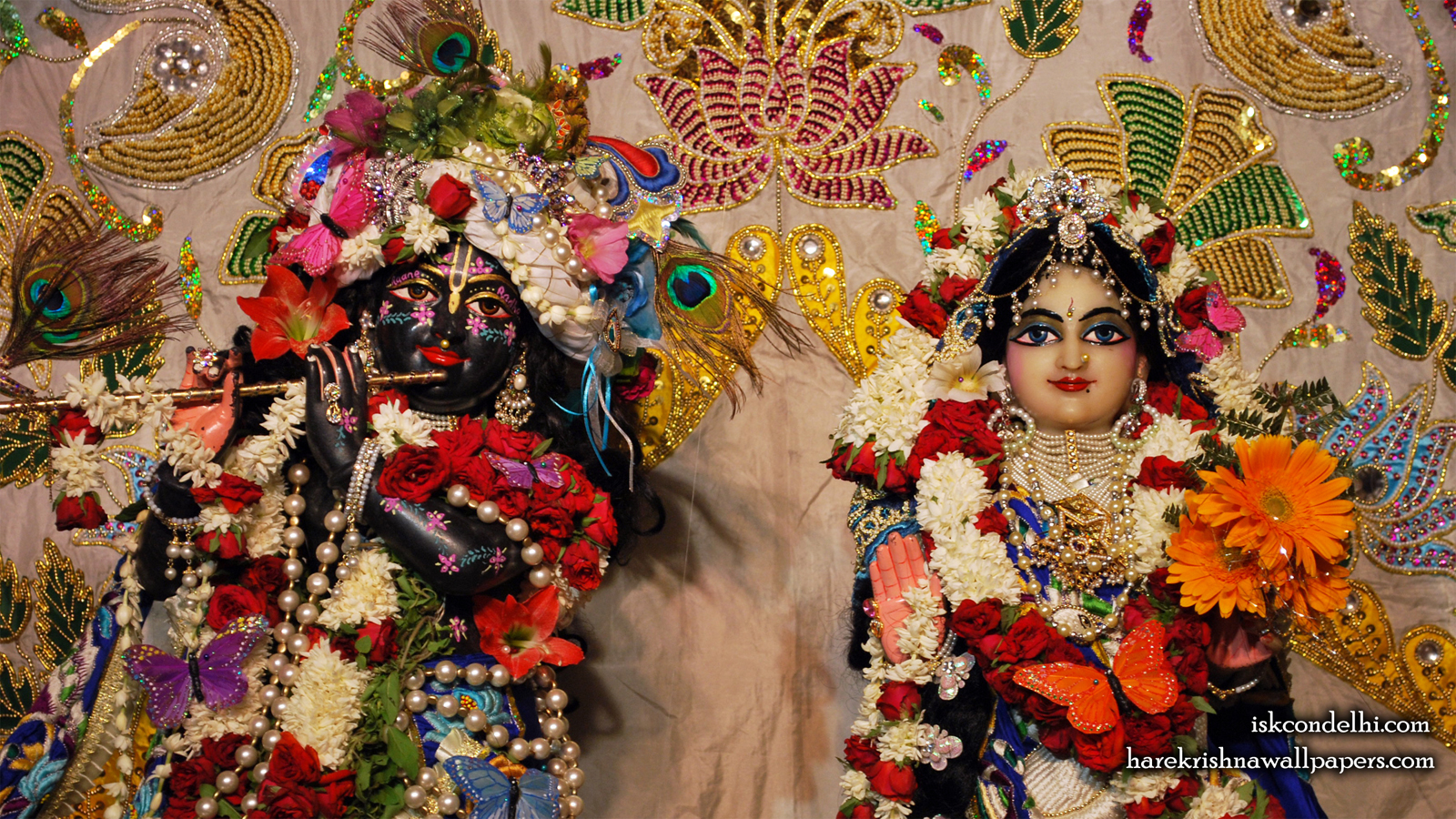 Sri Sri Radha Parthasarathi Close up Wallpaper (002) Size 1600x900 Download