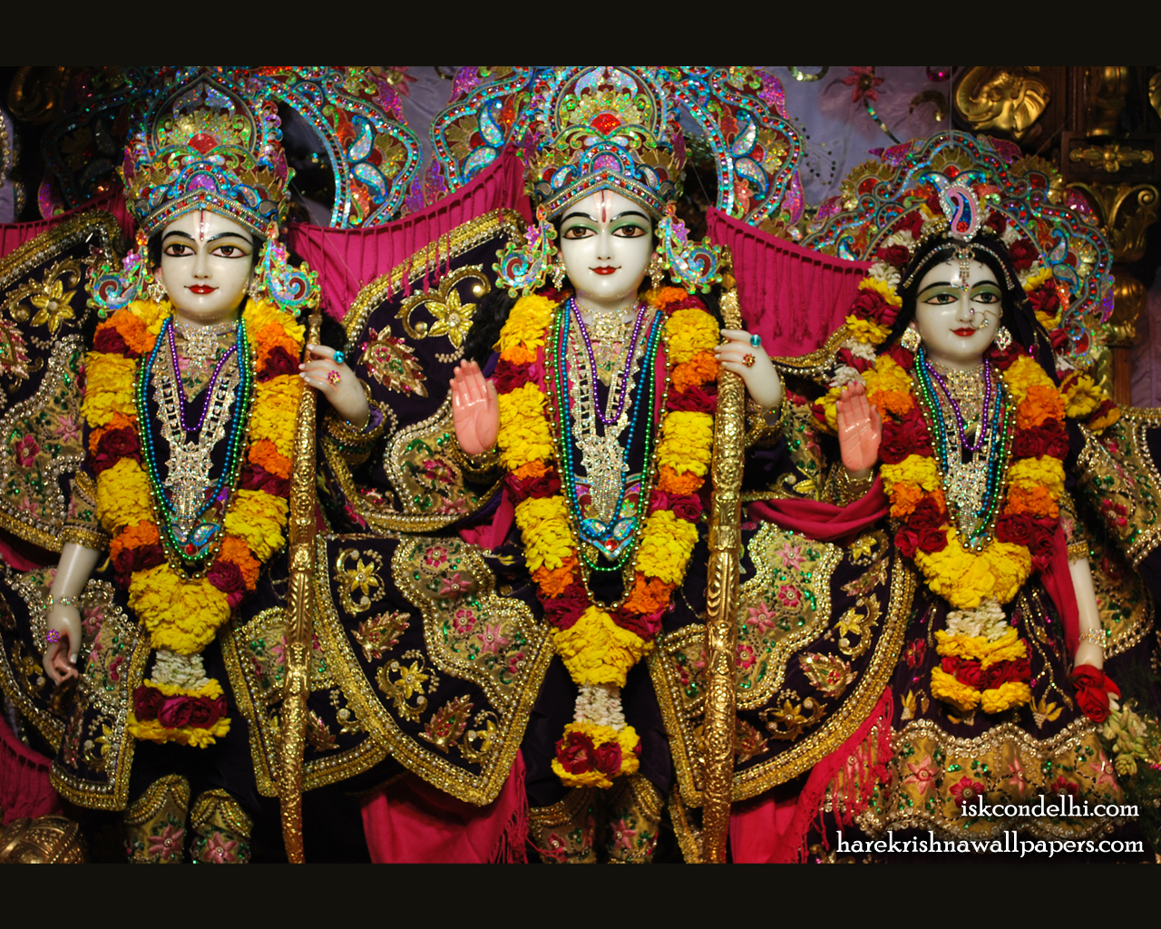 Sri Sri Sita Rama Laxman Wallpaper (002) Size 1280x1024 Download