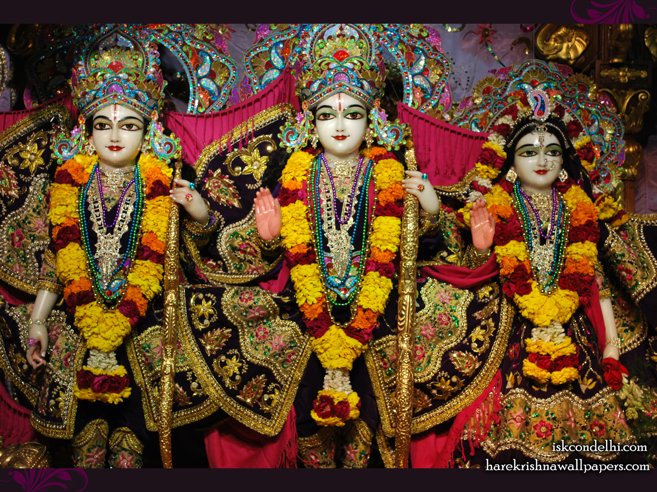 Sri Sri Sita Rama Laxman Wallpaper (002) Size 1280x960 Download