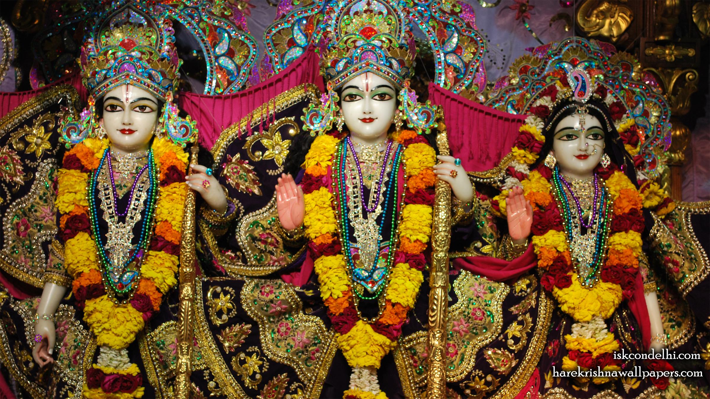 Sri Sri Sita Rama Laxman Wallpaper (002) Size 2400x1350 Download
