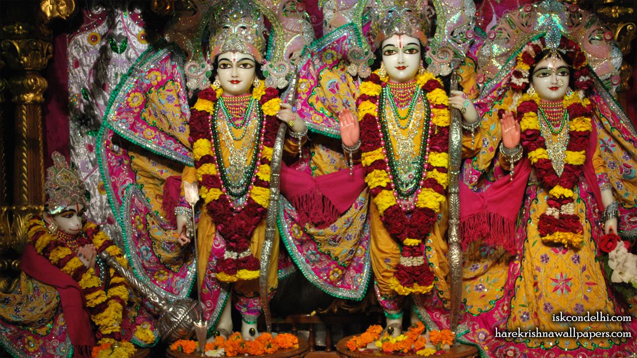 Sri Sri Sita Rama Laxman Hanuman Wallpaper (002) Size1280x720 Download