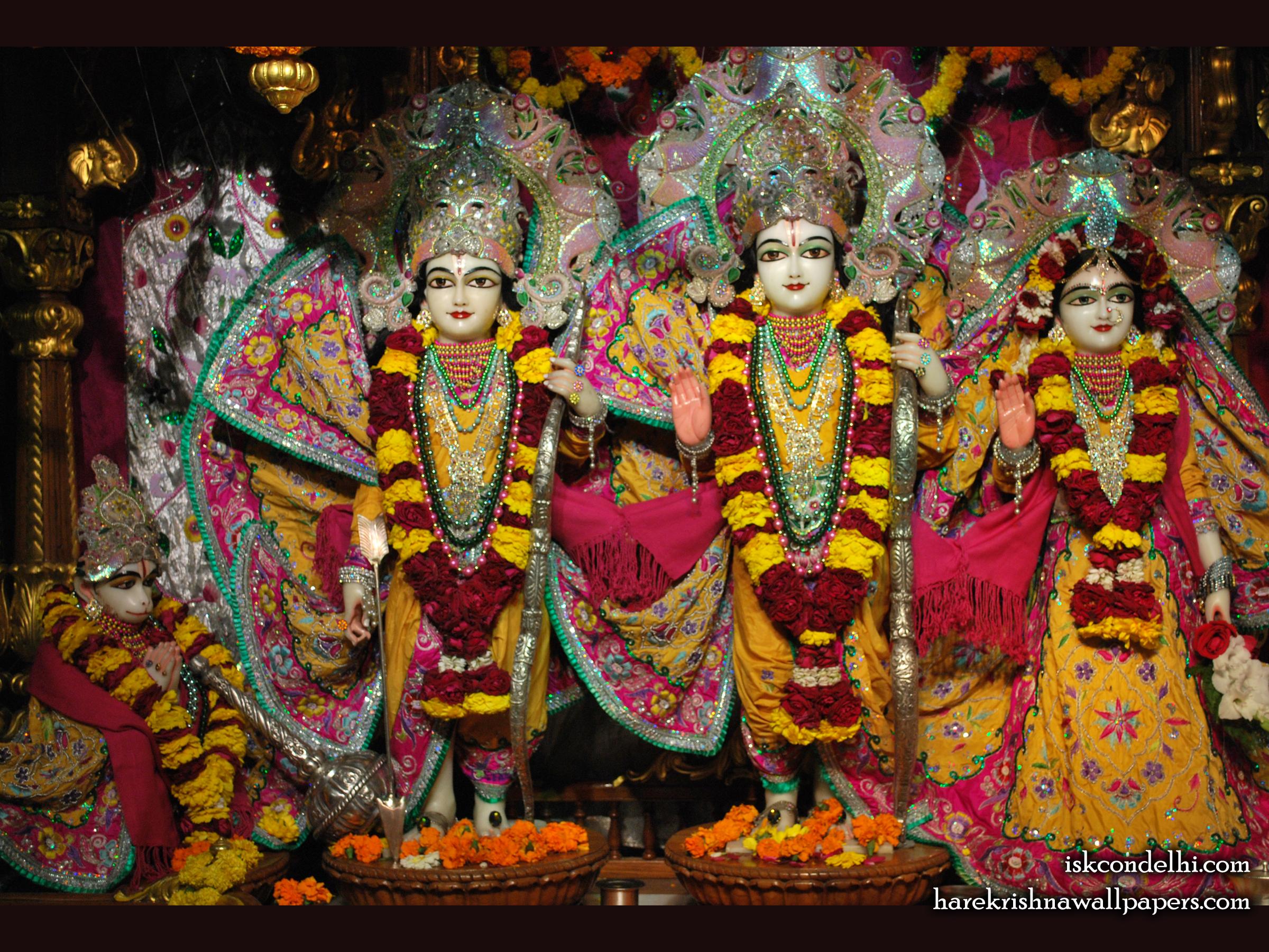 Sri Sri Sita Rama Laxman Hanuman Wallpaper (002) Size 2400x1800 Download