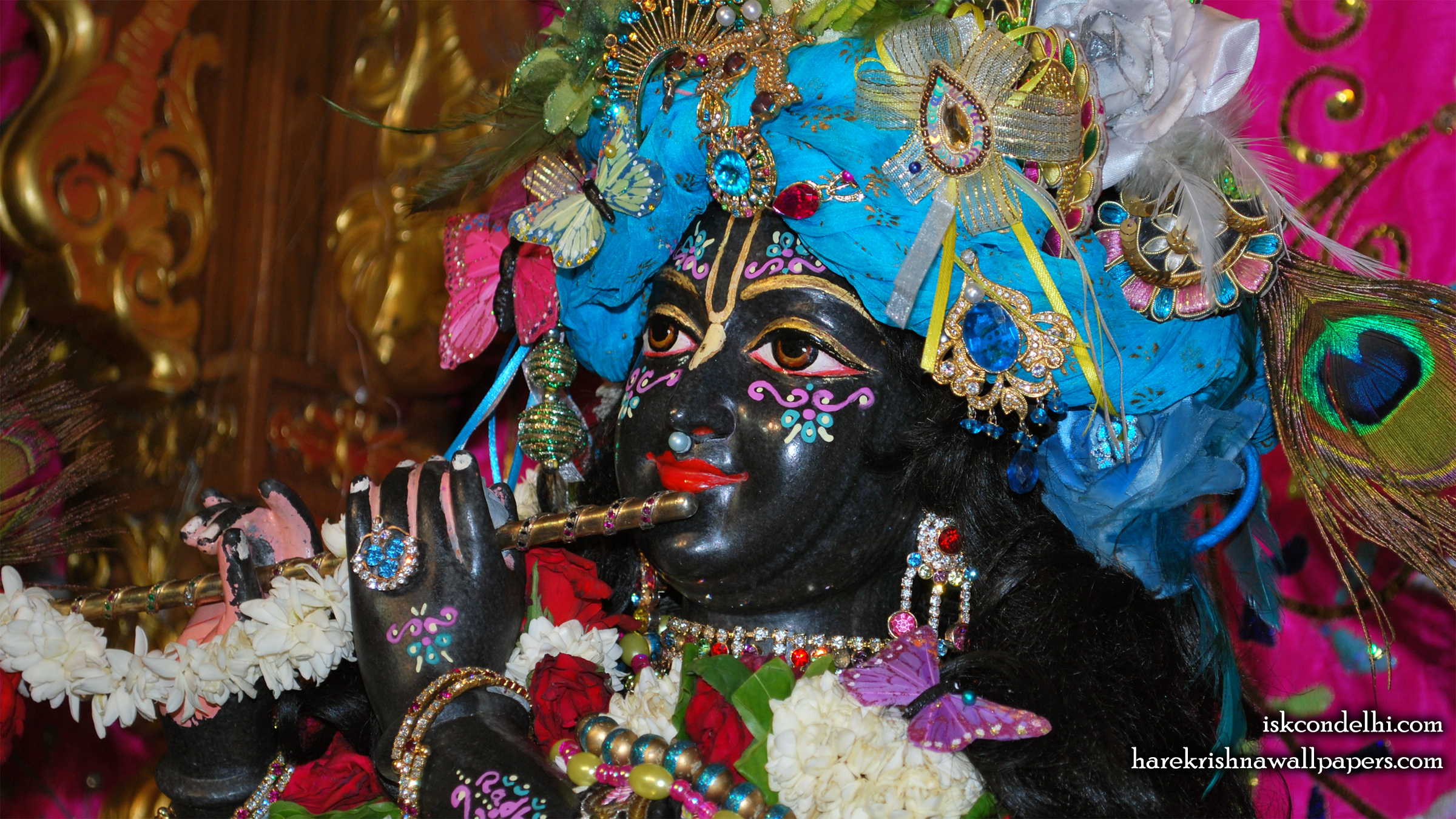 Sri Parthasarathi Close up Wallpaper (003) Size 2400x1350 Download