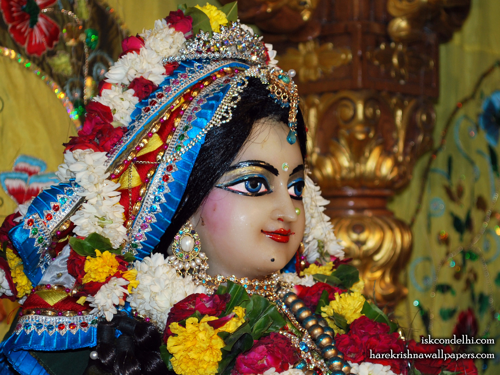Sri Radha Close up Wallpaper (003) Size1600x1200 Download
