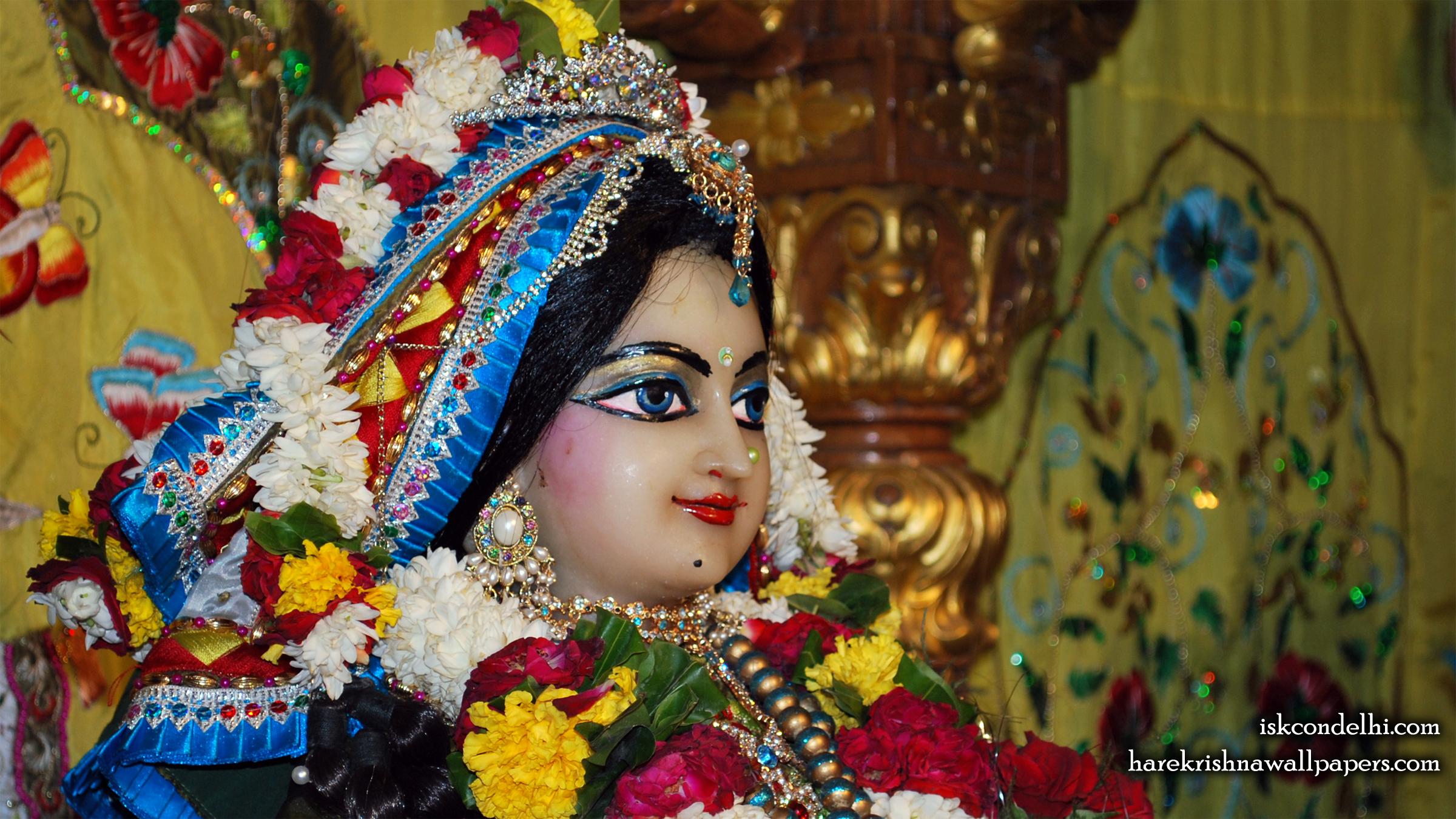 Sri Radha Close up Wallpaper (003) Size 2400x1350 Download