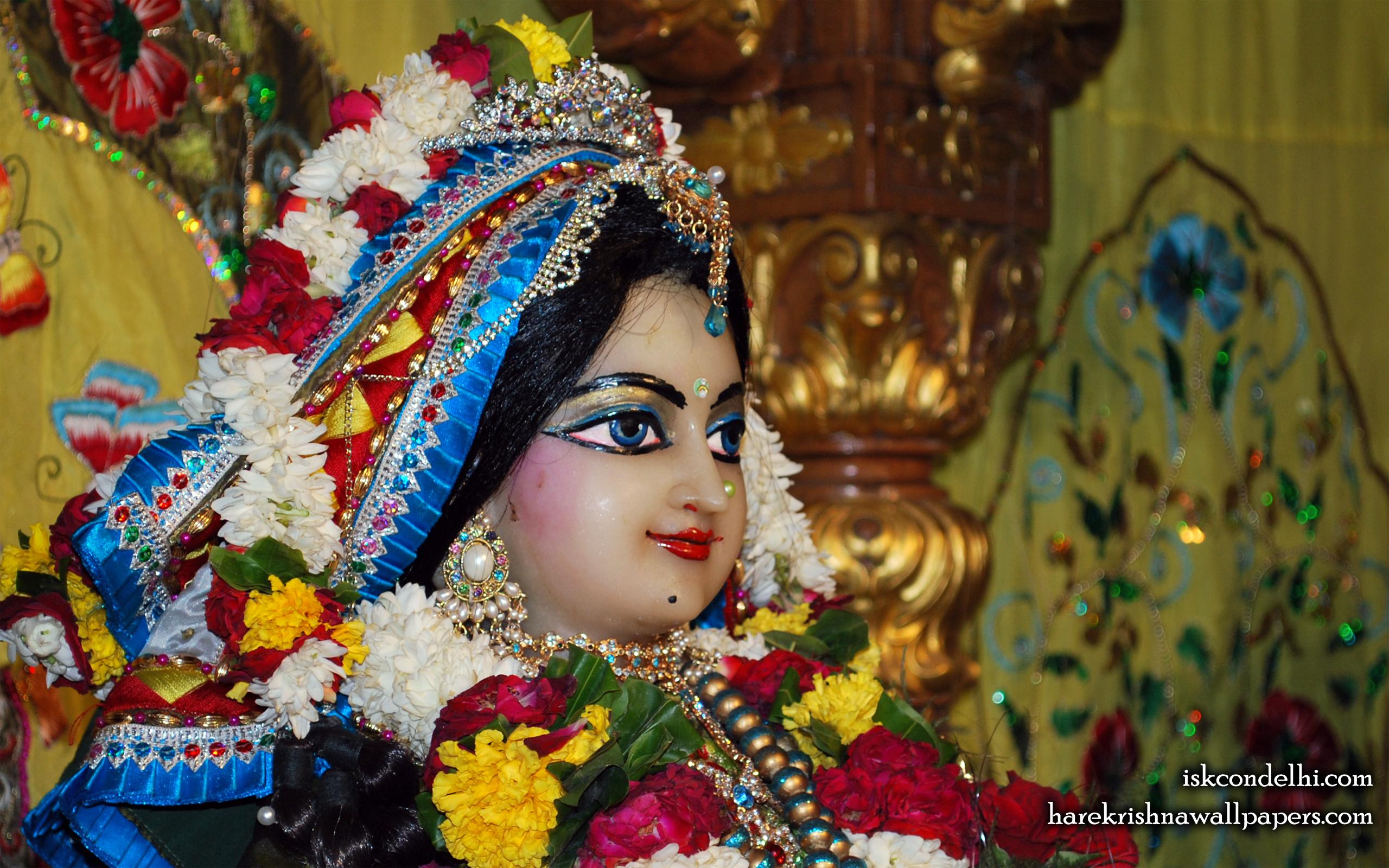 Sri Radha Close up Wallpaper (003) Size 2560x1600 Download