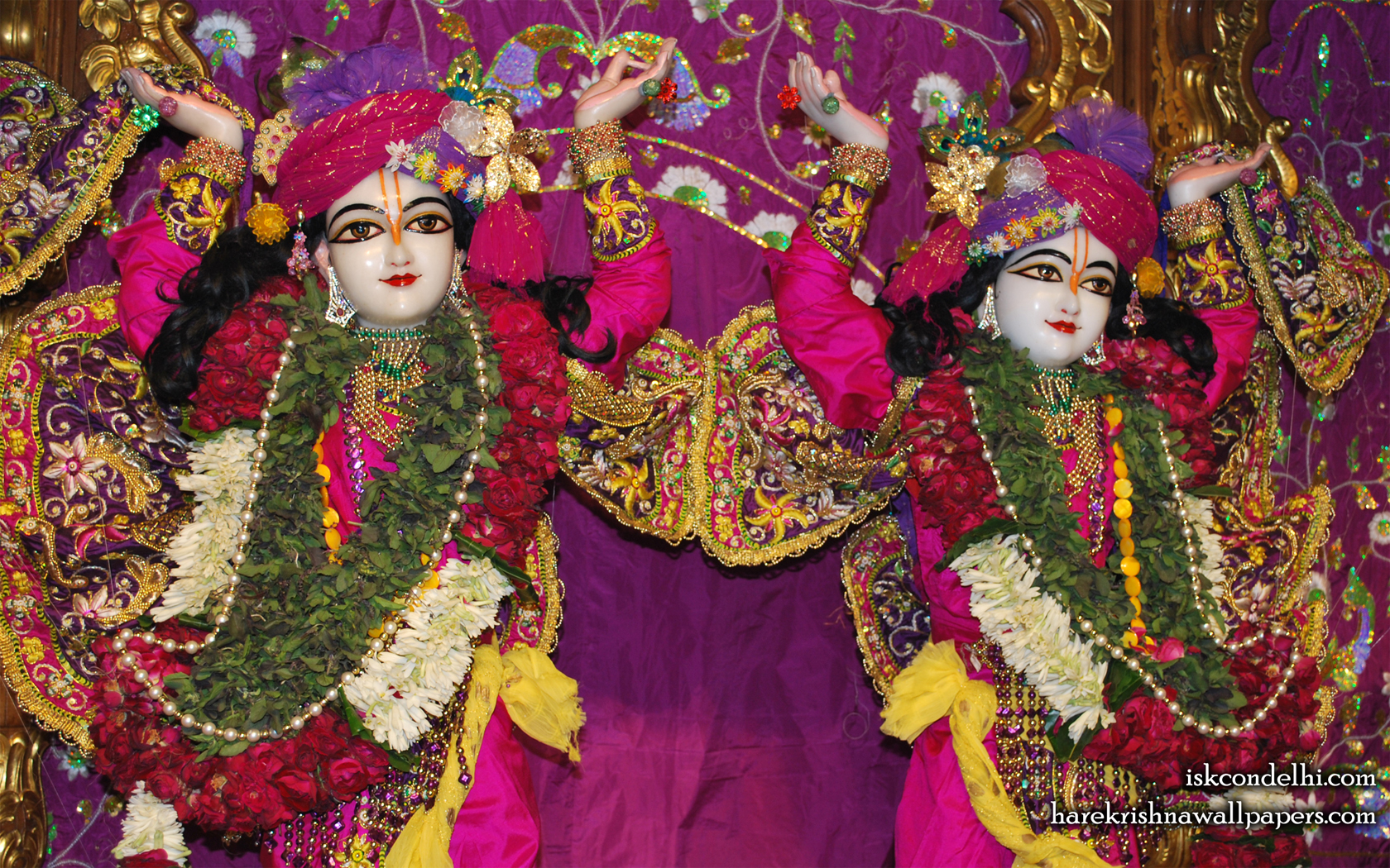 Sri Sri Gaura Nitai Close up Wallpaper (003) Size 1680x1050 Download