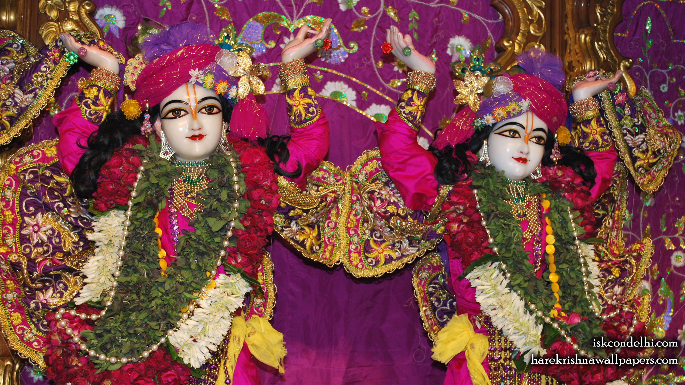 Sri Sri Gaura Nitai Close up Wallpaper (003) Size 2400x1350 Download