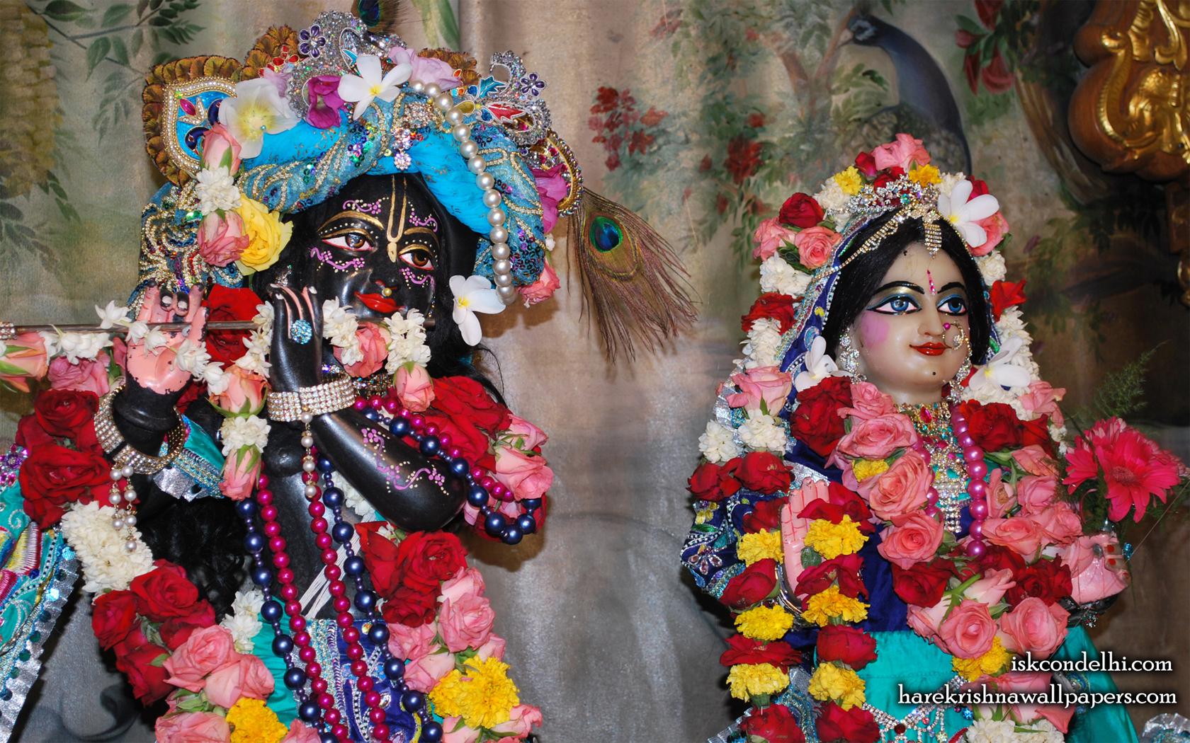 Sri Sri Radha Parthasarathi Close up Wallpaper (003) Size 1680x1050 Download