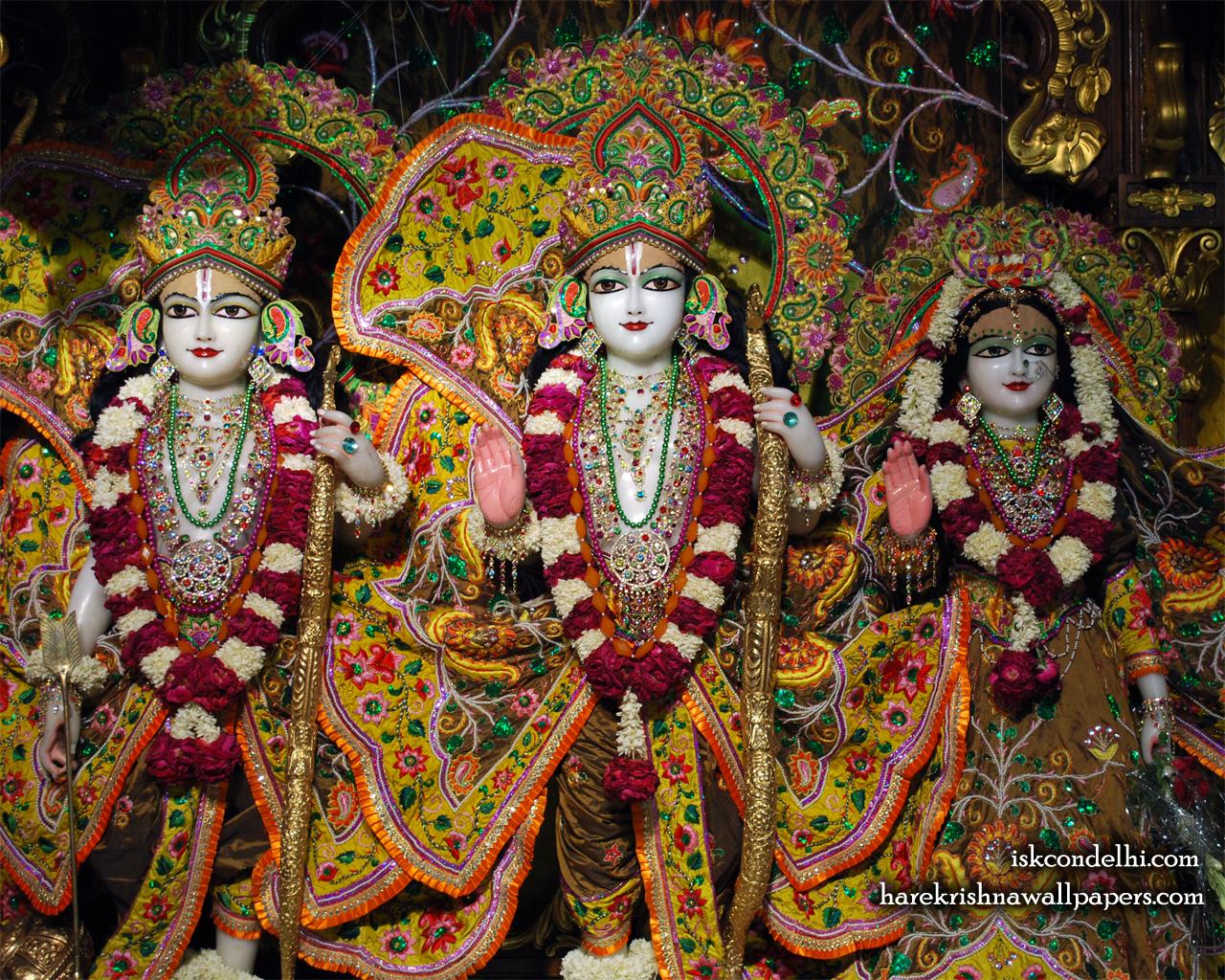 Sri Sri Sita Rama Laxman Wallpaper (003) Size 1280x1024 Download