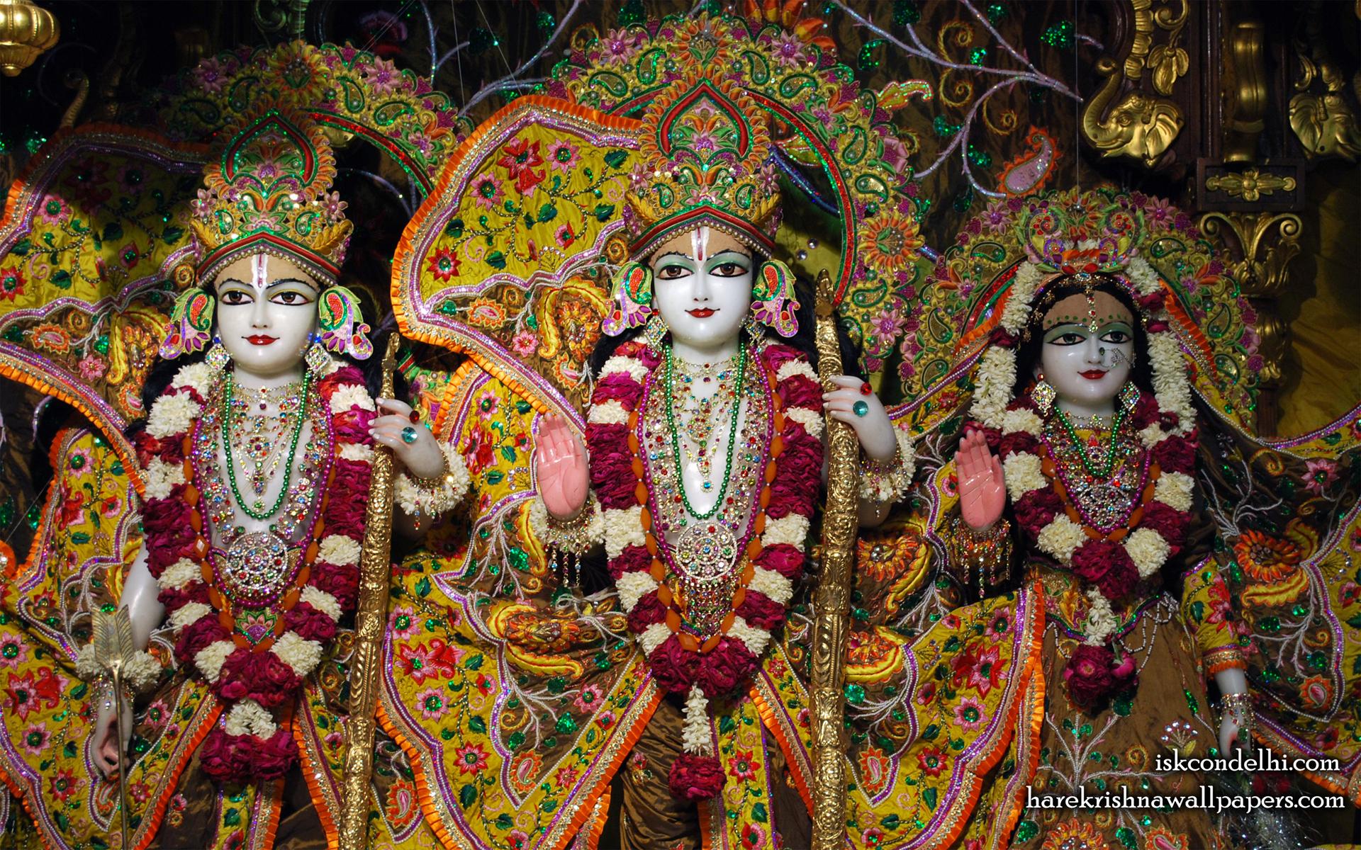 Sri Sri Sita Rama Laxman Wallpaper (003) Size 1920x1200 Download