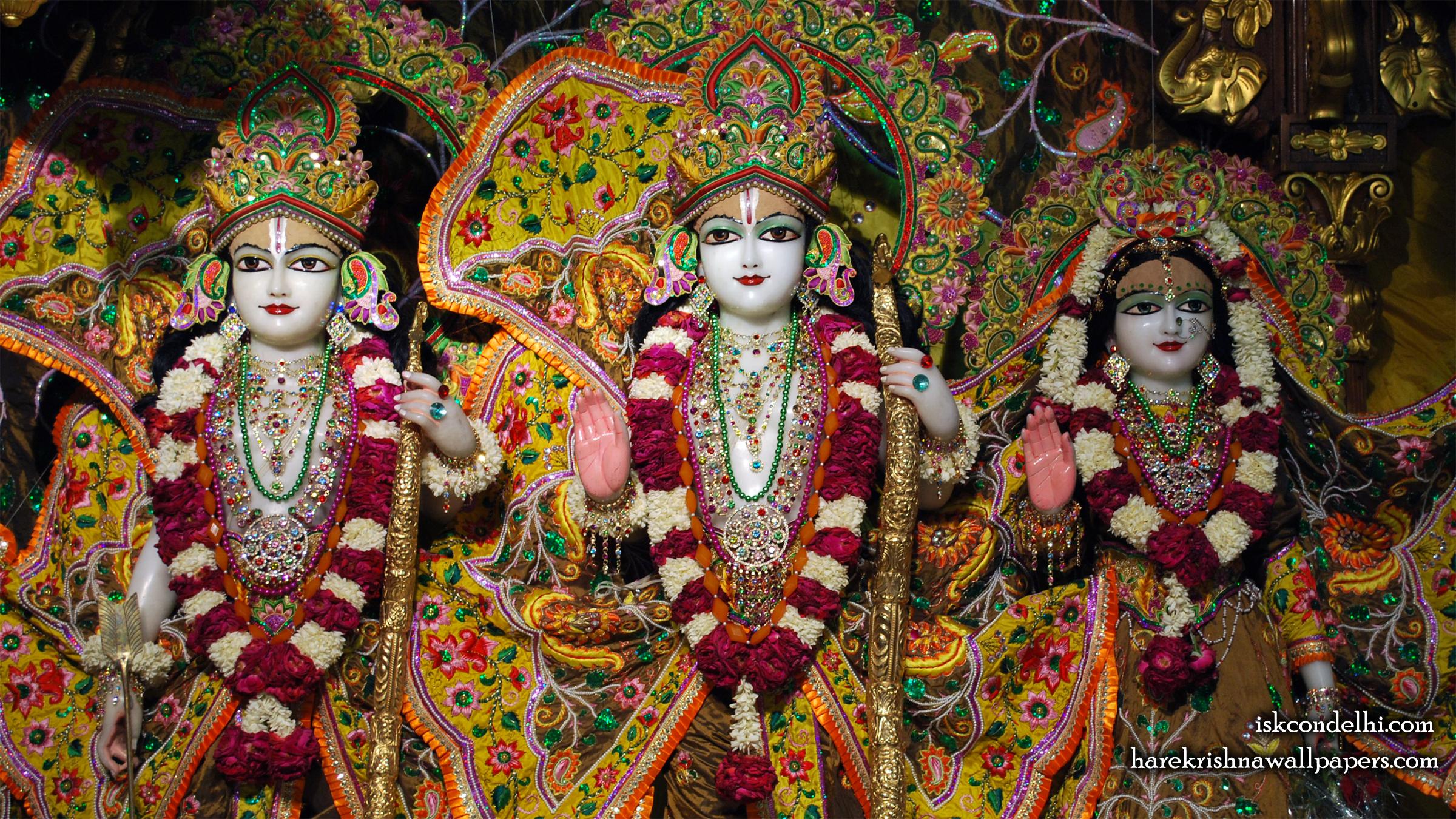 Sri Sri Sita Rama Laxman Wallpaper (003) Size 2400x1350 Download