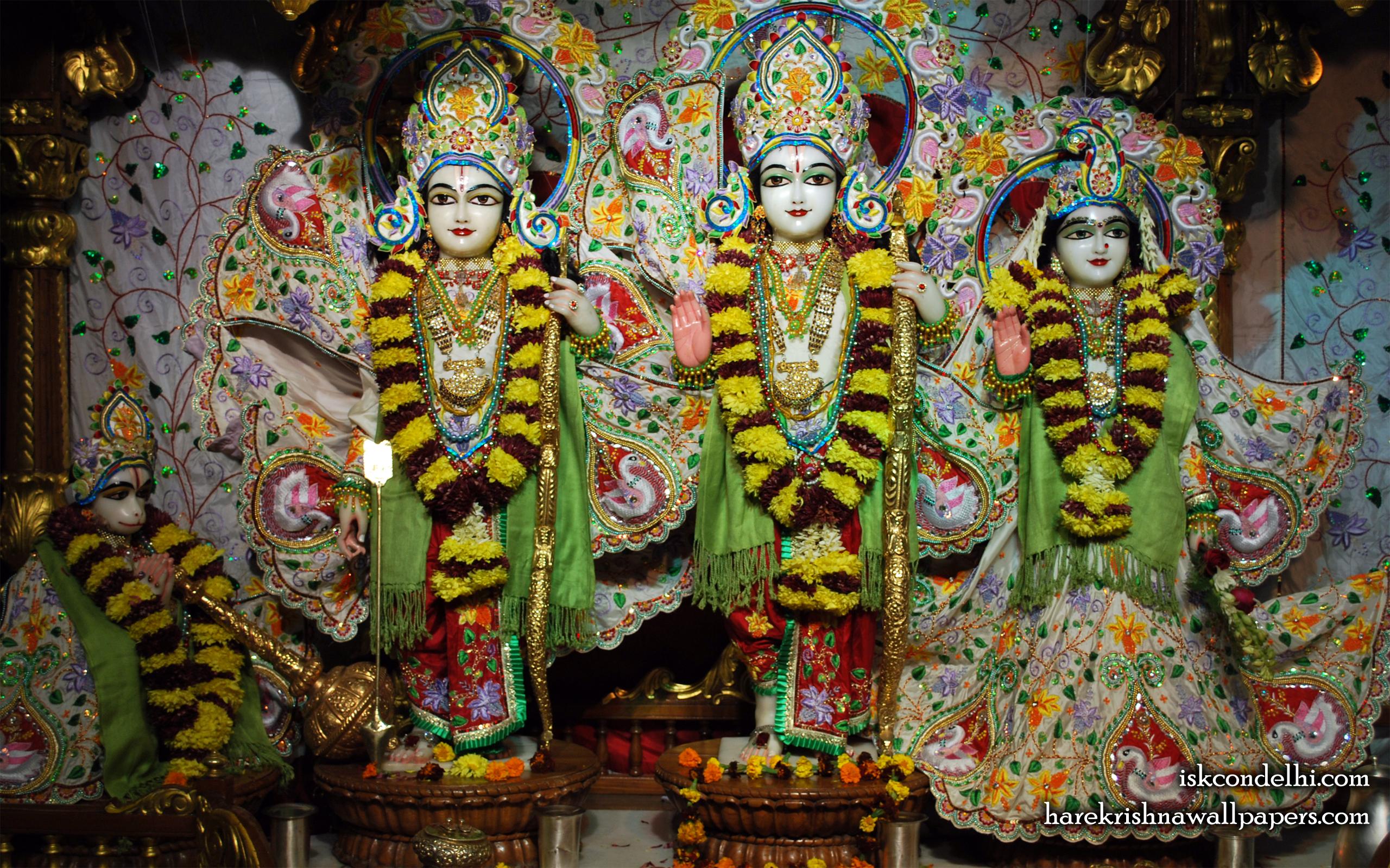 Sri Sri Sita Rama Laxman Hanuman Wallpaper (003) Size 2560x1600 Download