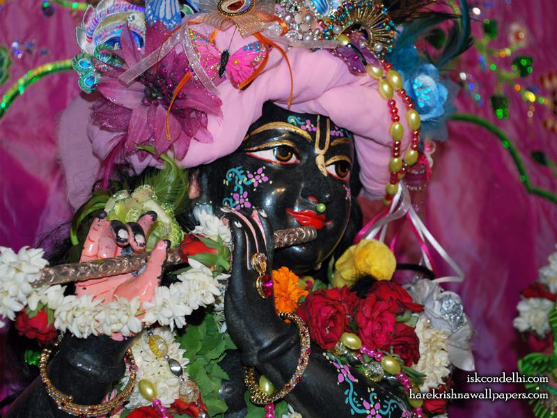 Sri Parthasarathi Close up Wallpaper (004)