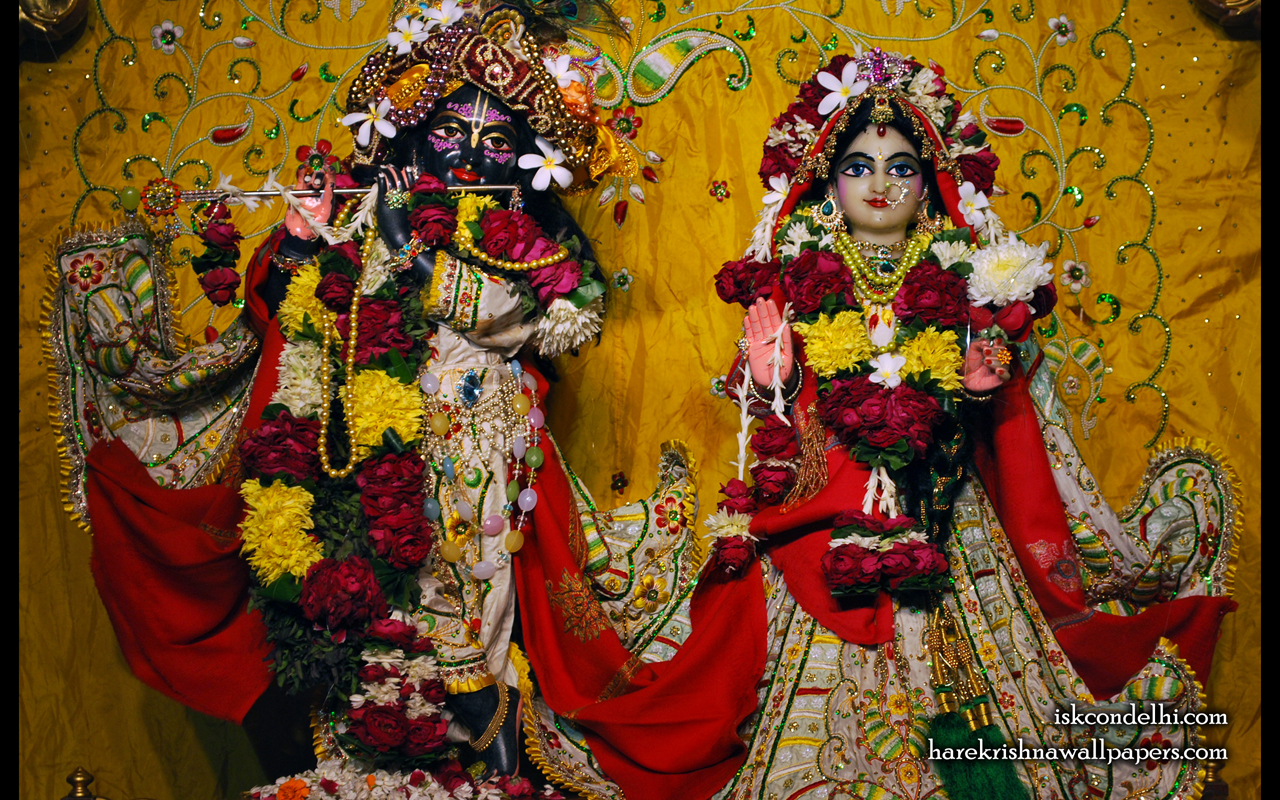 Sri Sri Radha Parthasarathi Wallpaper (004) Size 1280x800 Download
