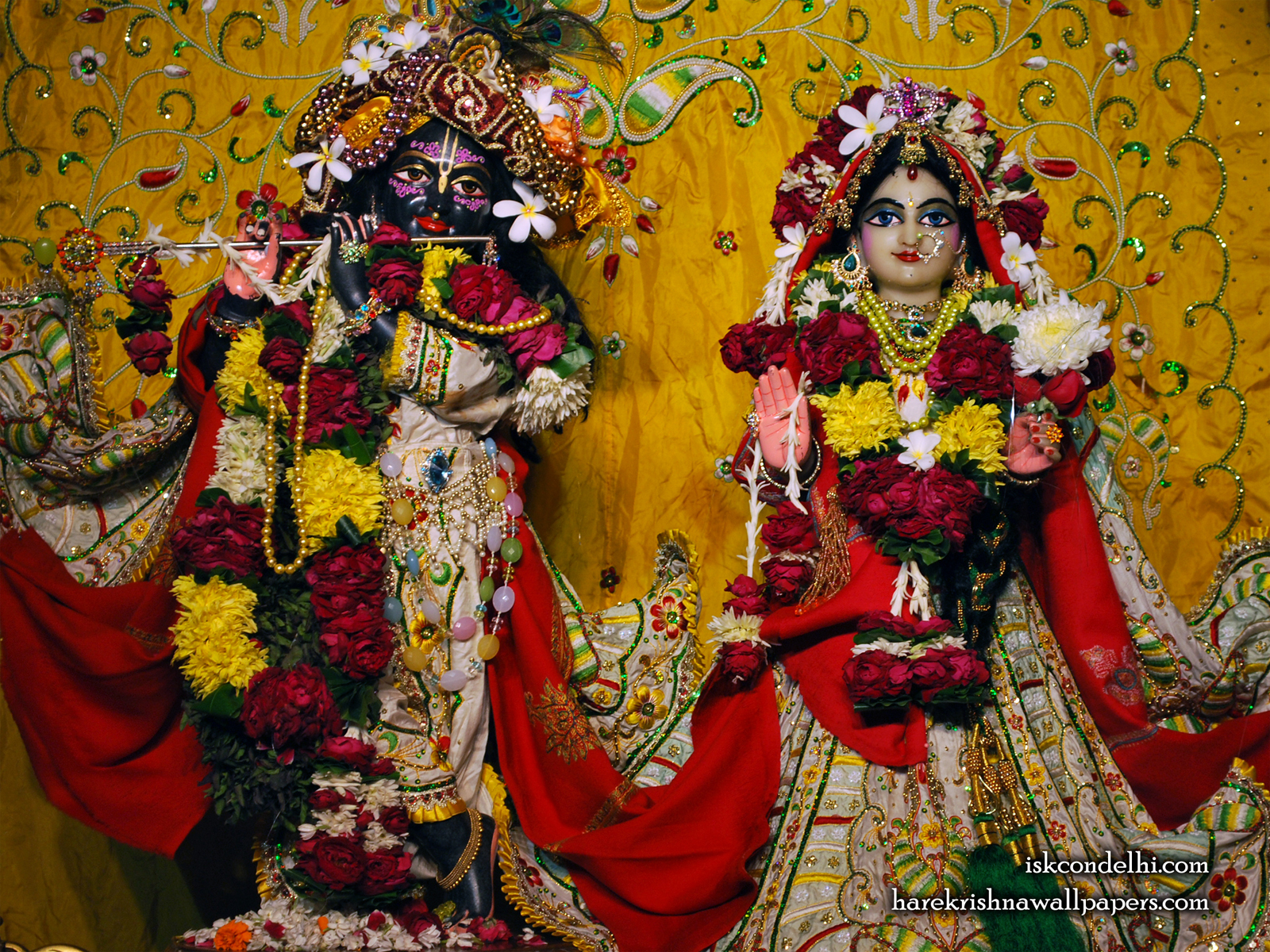 Sri Sri Radha Parthasarathi Wallpaper (004) Size1600x1200 Download