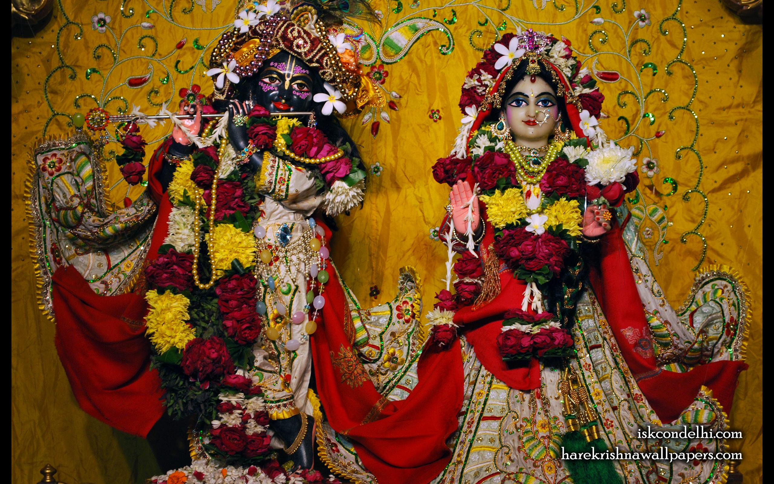 Sri Sri Radha Parthasarathi Wallpaper (004) Size 2560x1600 Download