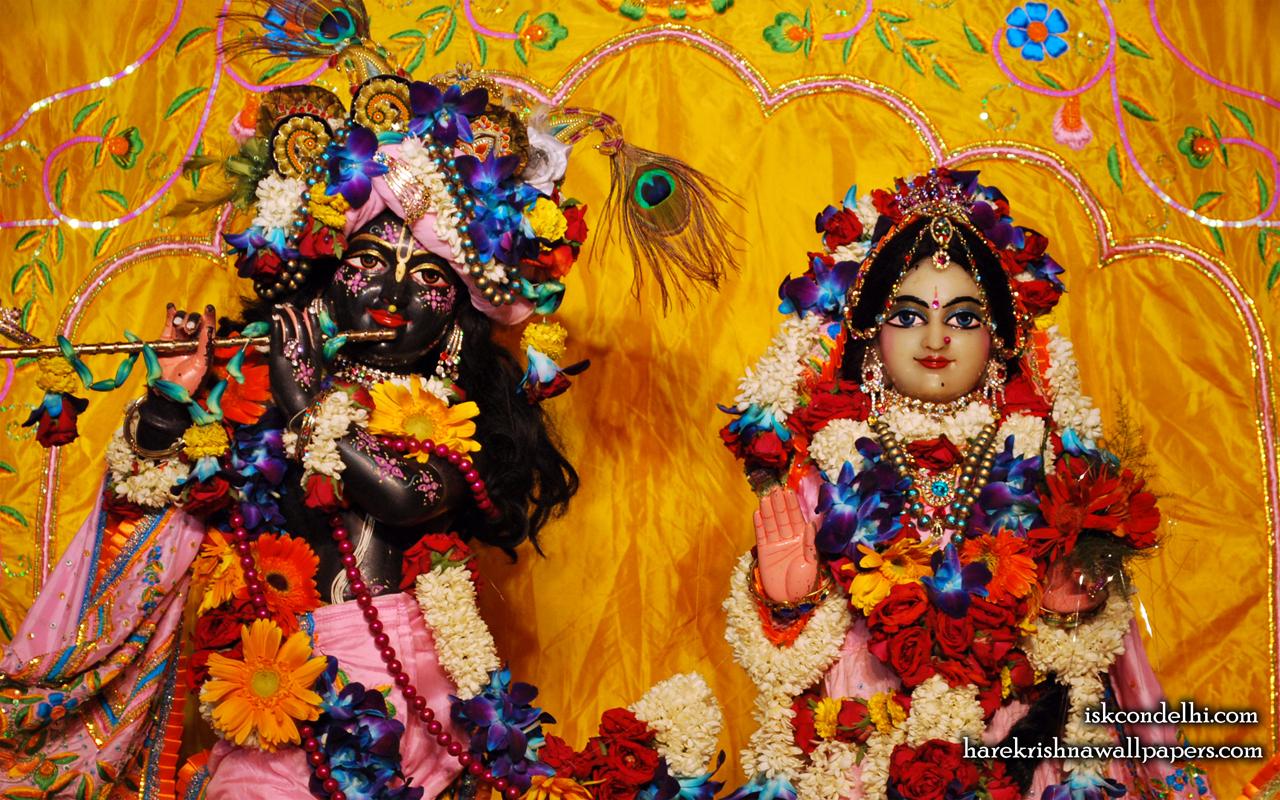 Sri Sri Radha Parthasarathi Close up Wallpaper (004) Size 1280x800 Download