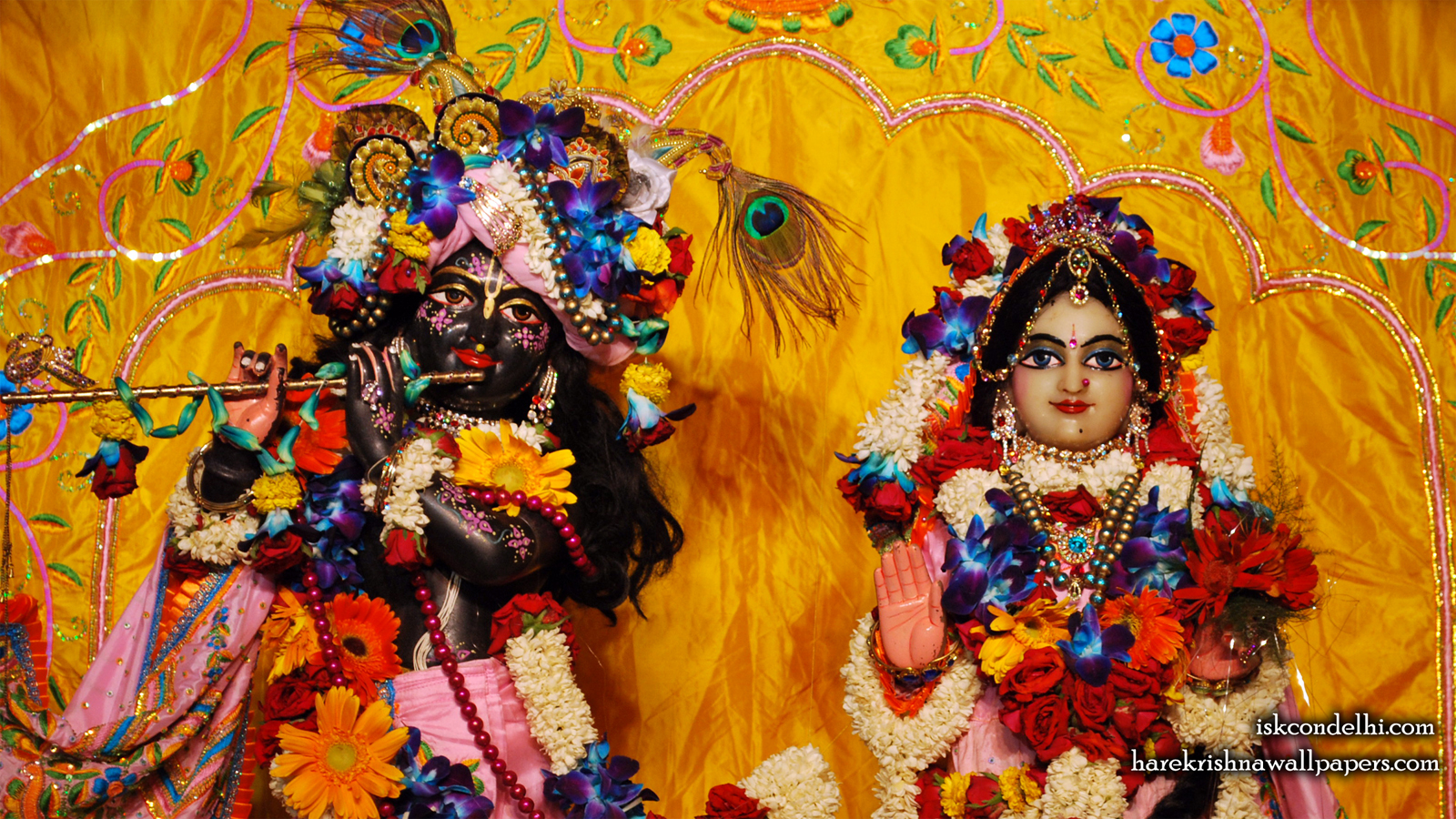 Sri Sri Radha Parthasarathi Close up Wallpaper (004) Size 1600x900 Download