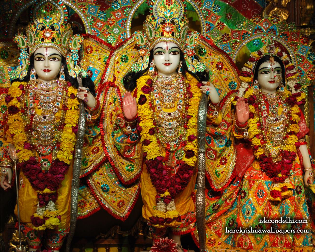 Sri Sri Sita Rama Laxman Wallpaper (004) Size 1280x1024 Download