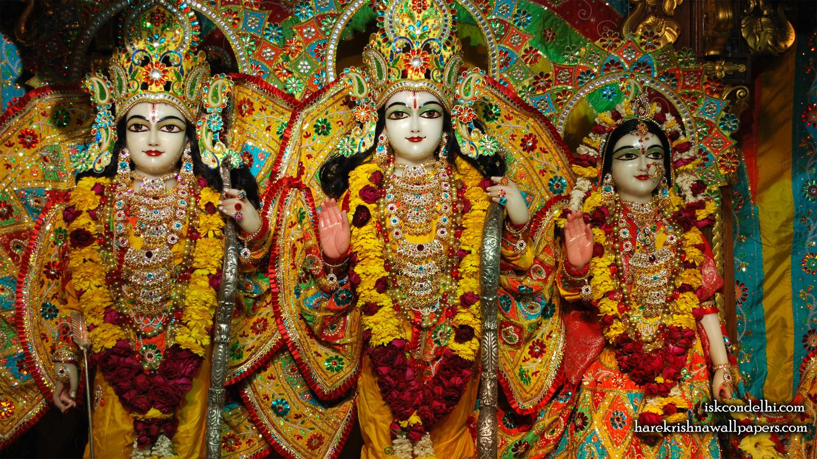 Sri Sri Sita Rama Laxman Wallpaper (004) Size 1600x900 Download