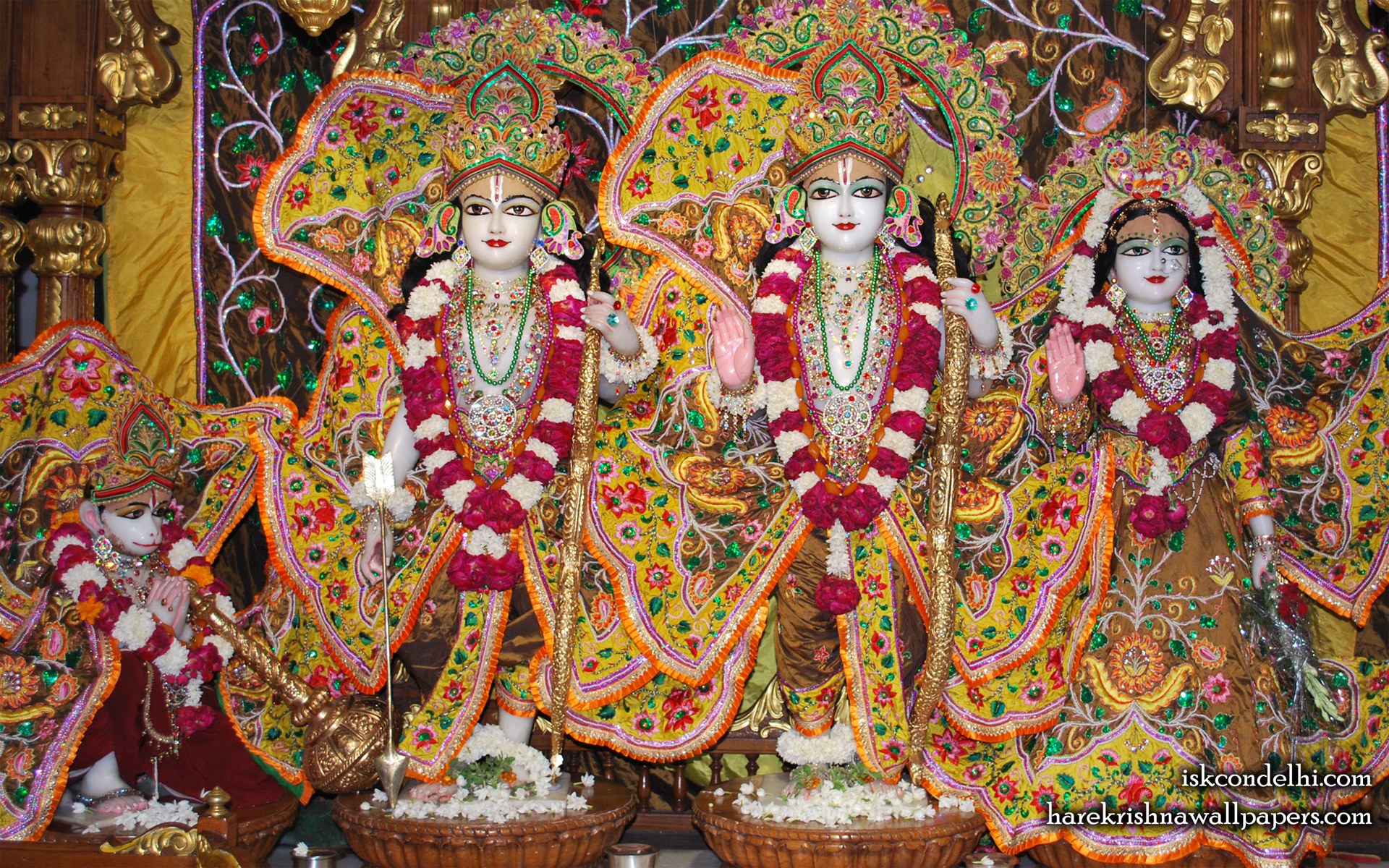 Sri Sri Sita Rama Laxman Hanuman Wallpaper (004) Size 1920x1200 Download