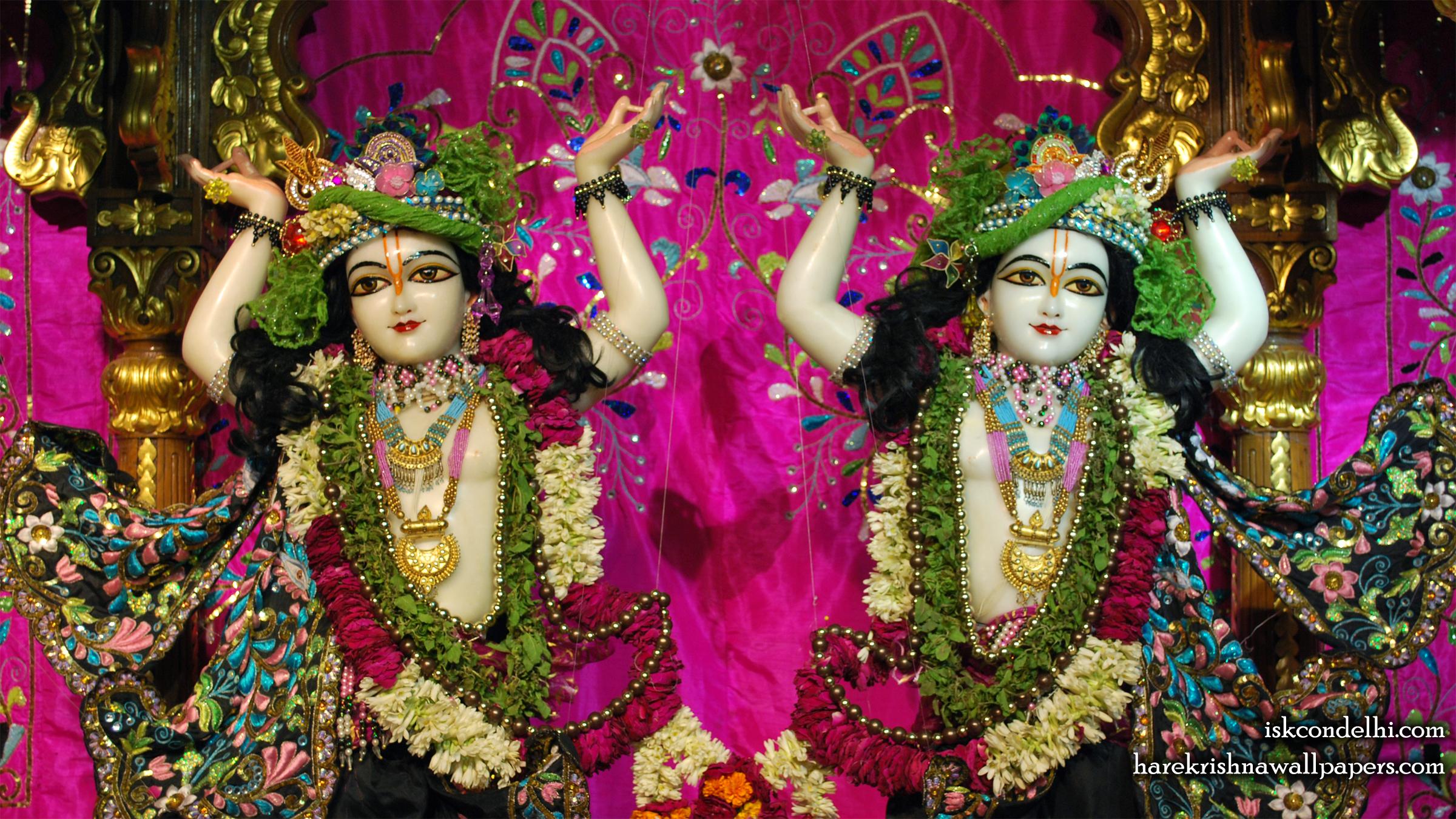 Sri Sri Gaura Nitai Close up Wallpaper (005) Size 2400x1350 Download