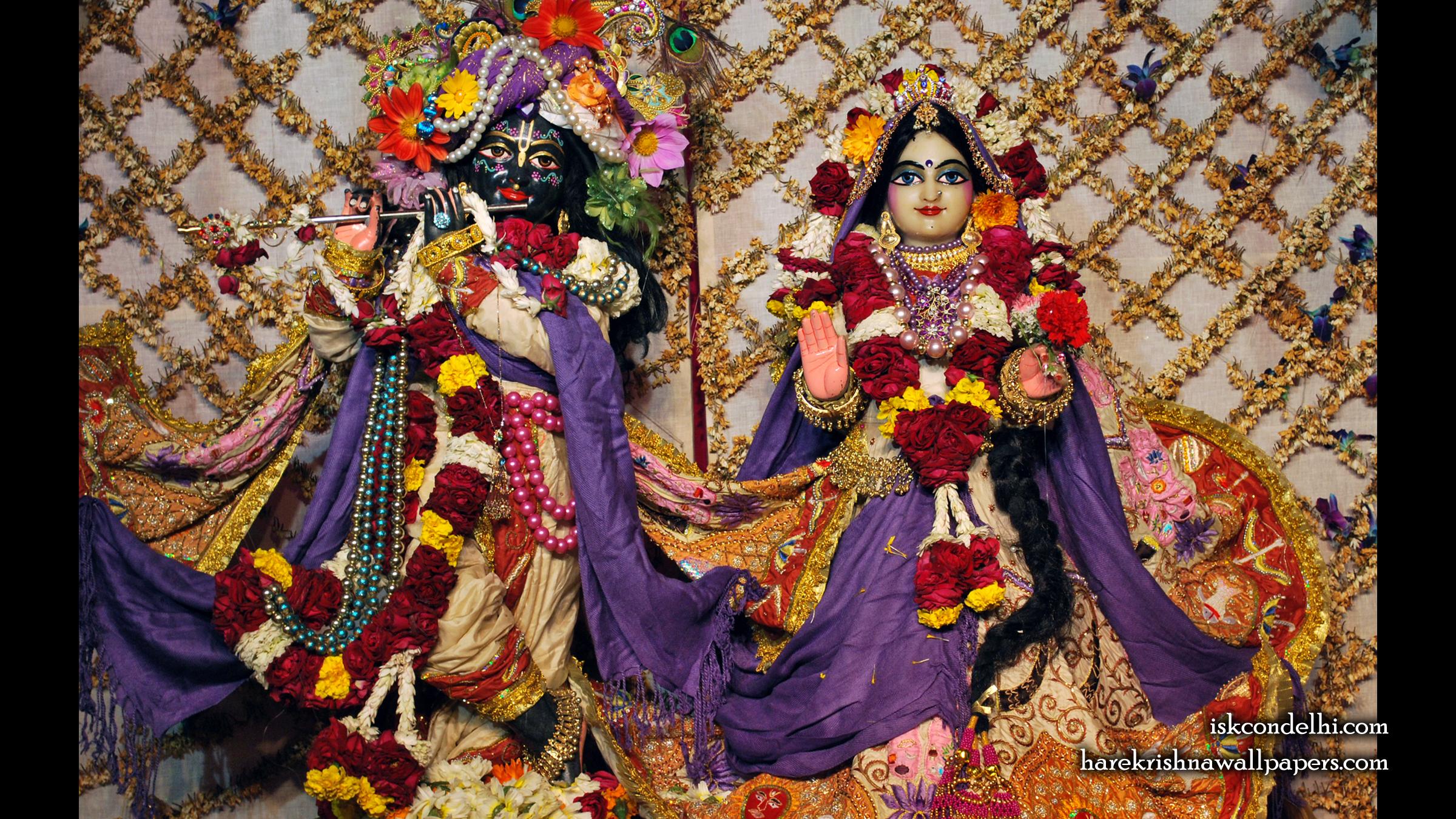 Sri Sri Radha Parthasarathi Wallpaper (005) Size 2400x1350 Download