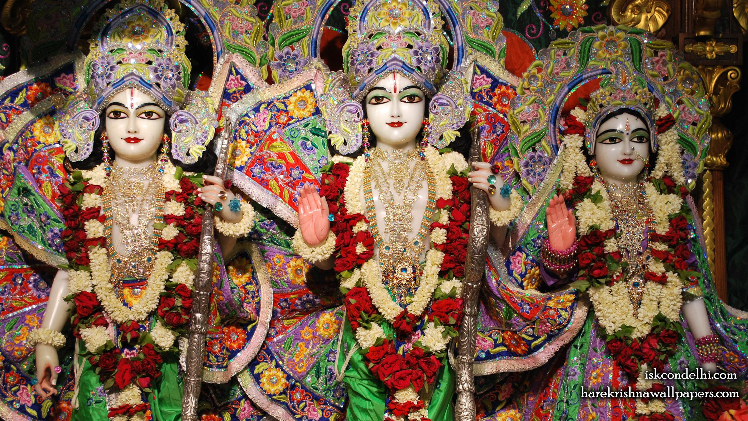 Sri Sri Sita Rama Laxman Wallpaper (005) Size 2400x1350 Download