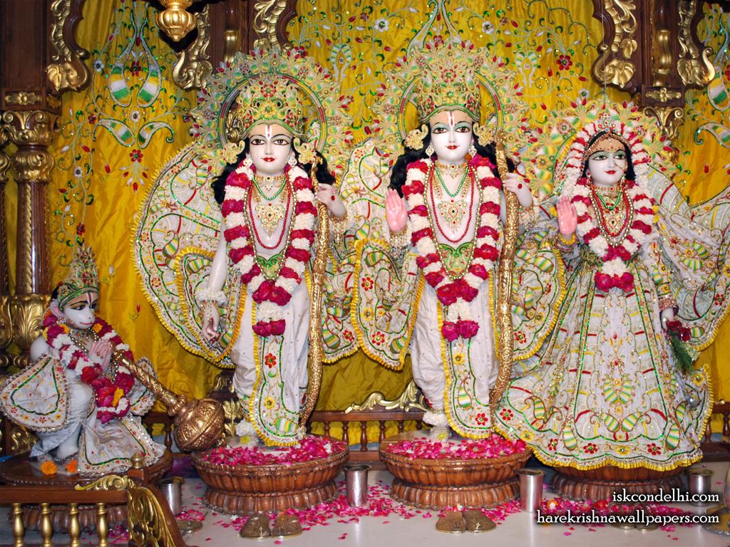 Sri Sri Sita Rama Laxman Hanuman Wallpaper (005) Size 1024x768 Download