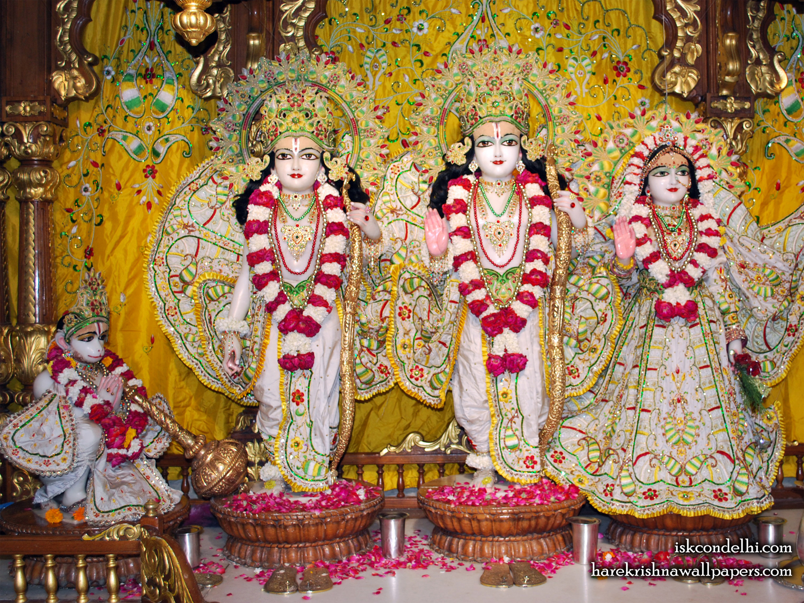 Sri Sri Sita Rama Laxman Hanuman Wallpaper (005) Size1600x1200 Download