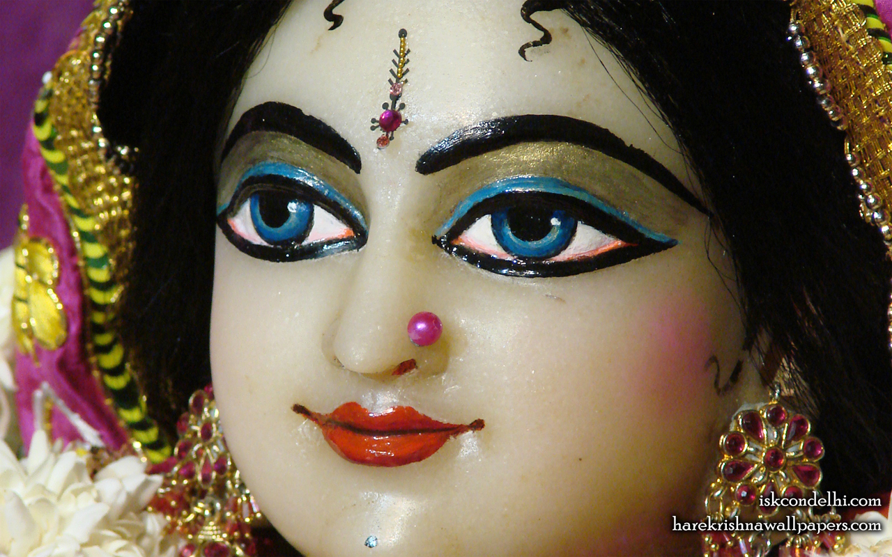 Sri Radha Close up Wallpaper (006) Size 1280x800 Download