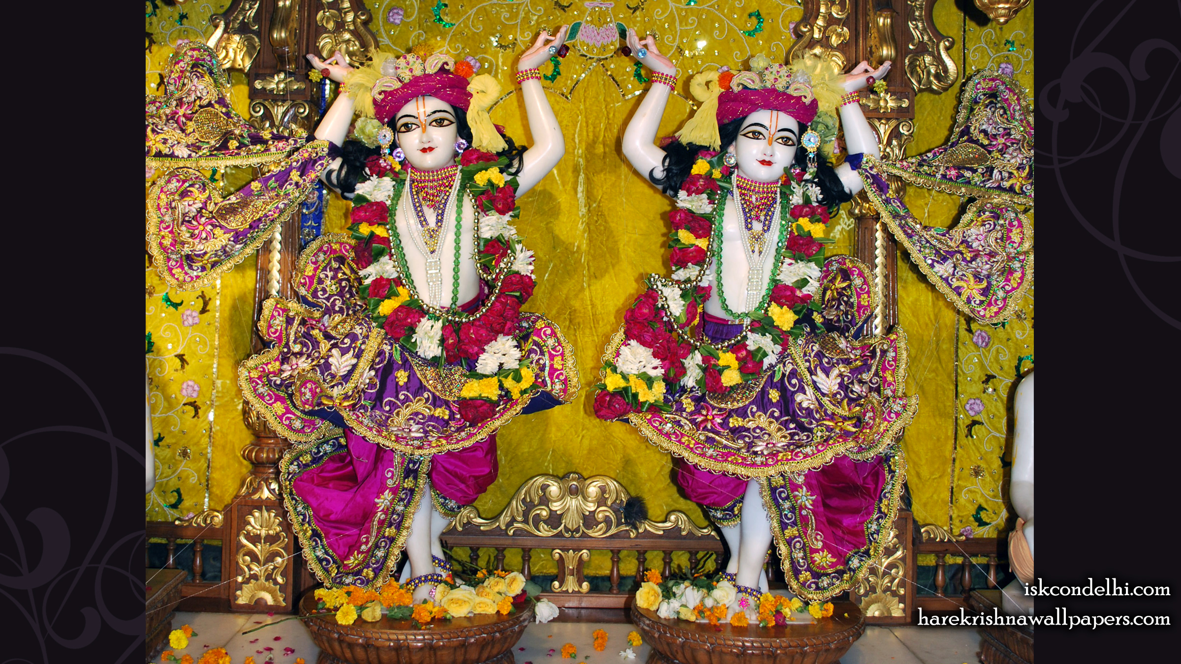 Sri Sri Gaura Nitai Wallpaper (006) Size 2400x1350 Download