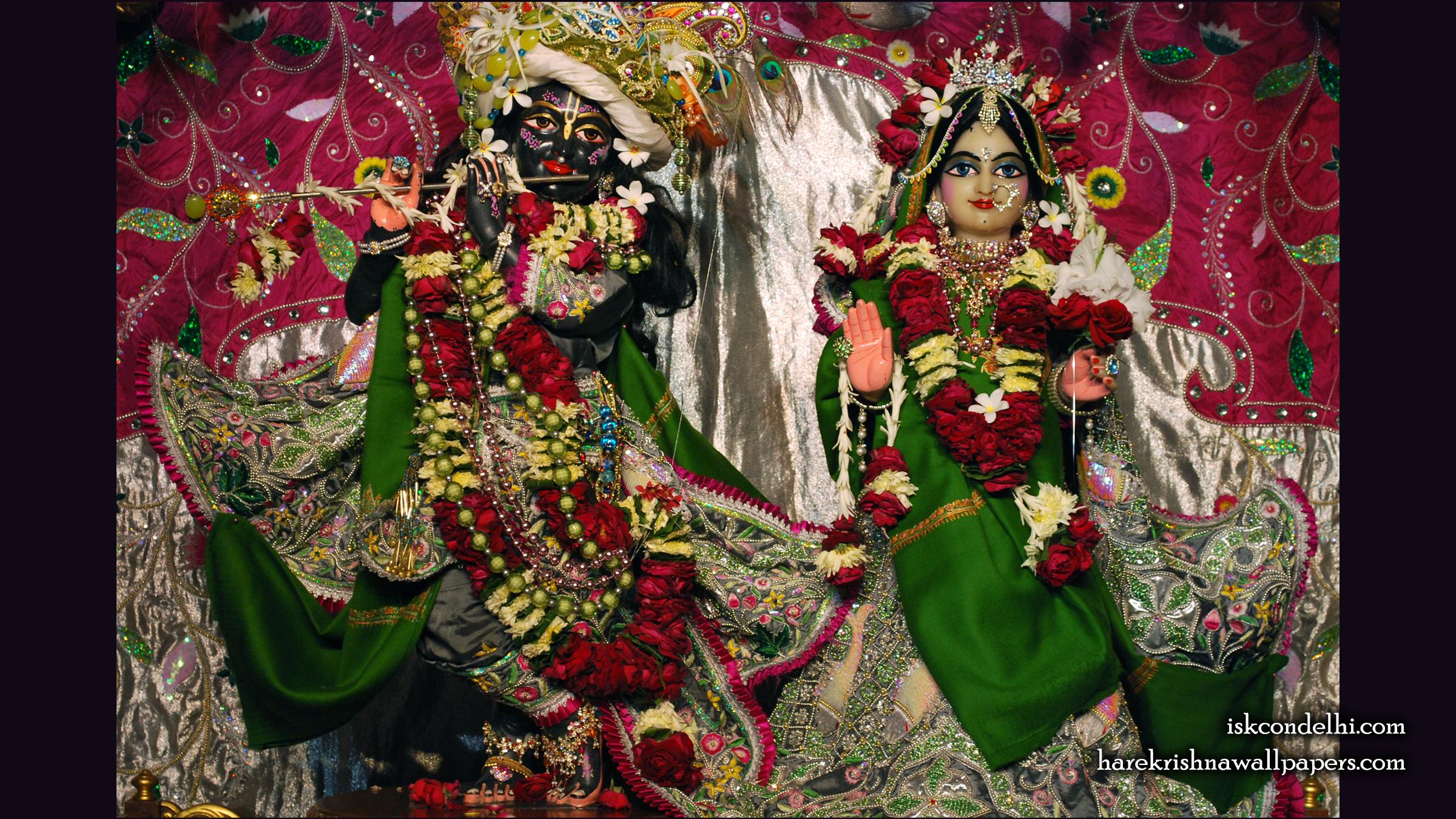 Sri Sri Radha Parthasarathi Wallpaper (006) Size 2400x1350 Download