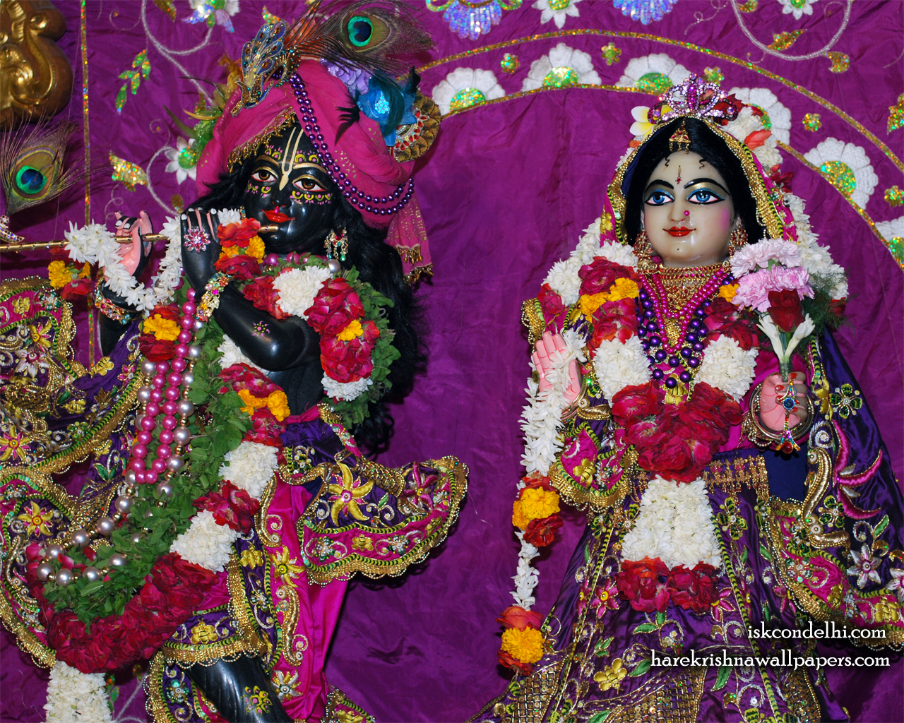 Sri Sri Radha Parthasarathi Close up Wallpaper (006) Size 1280x1024 Download