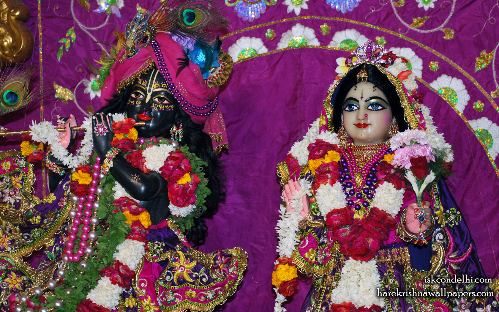 Sri Sri Radha Parthasarathi Close up Wallpaper (006) Size 1680x1050 Download