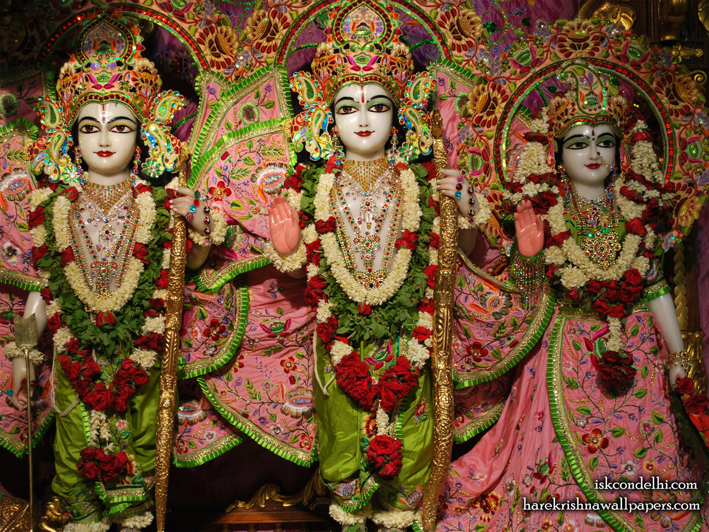 Sri Sri Sita Rama Laxman Wallpaper (006) Size 1400x1050 Download