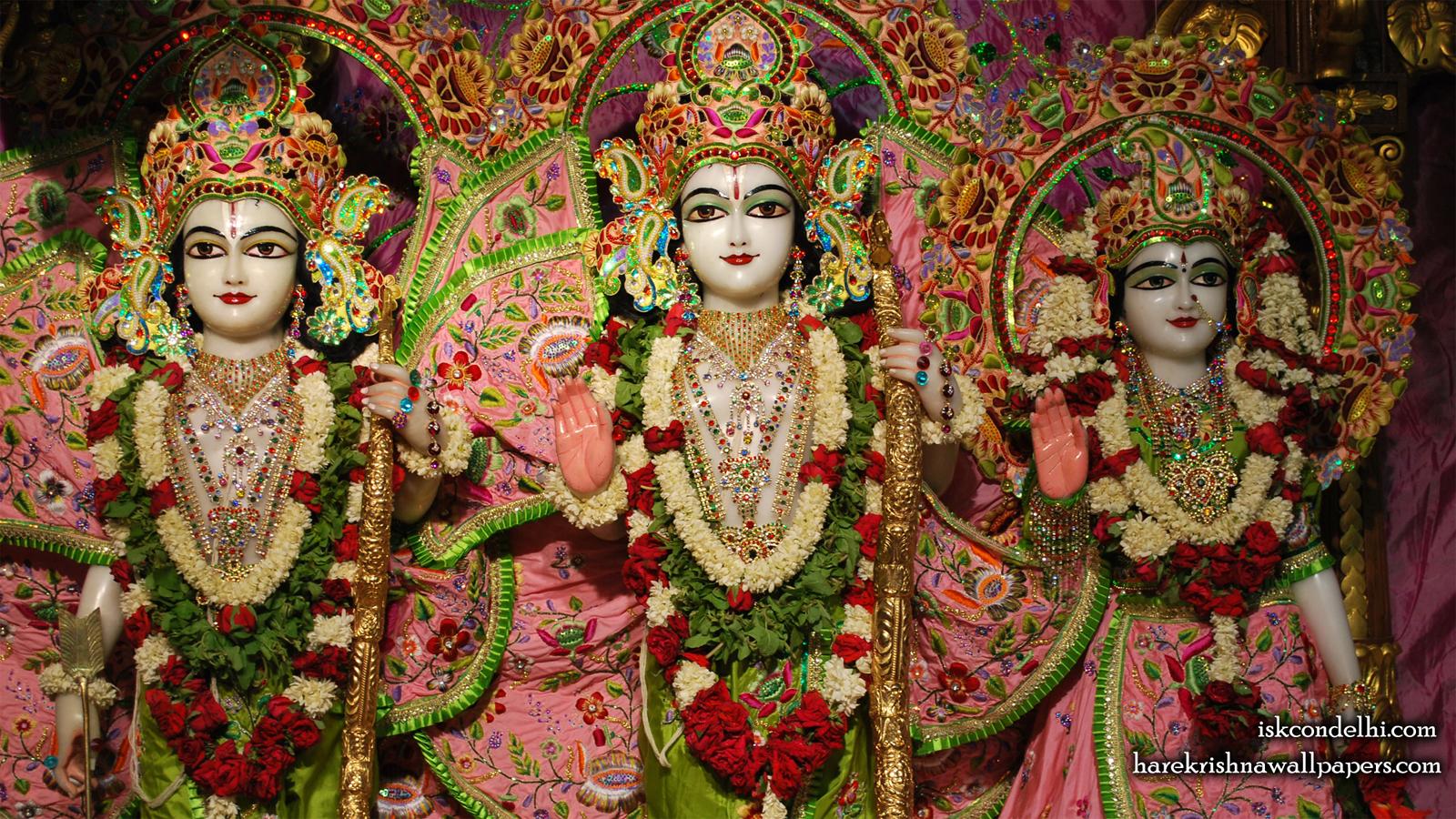 Sri Sri Sita Rama Laxman Wallpaper (006) Size 1600x900 Download