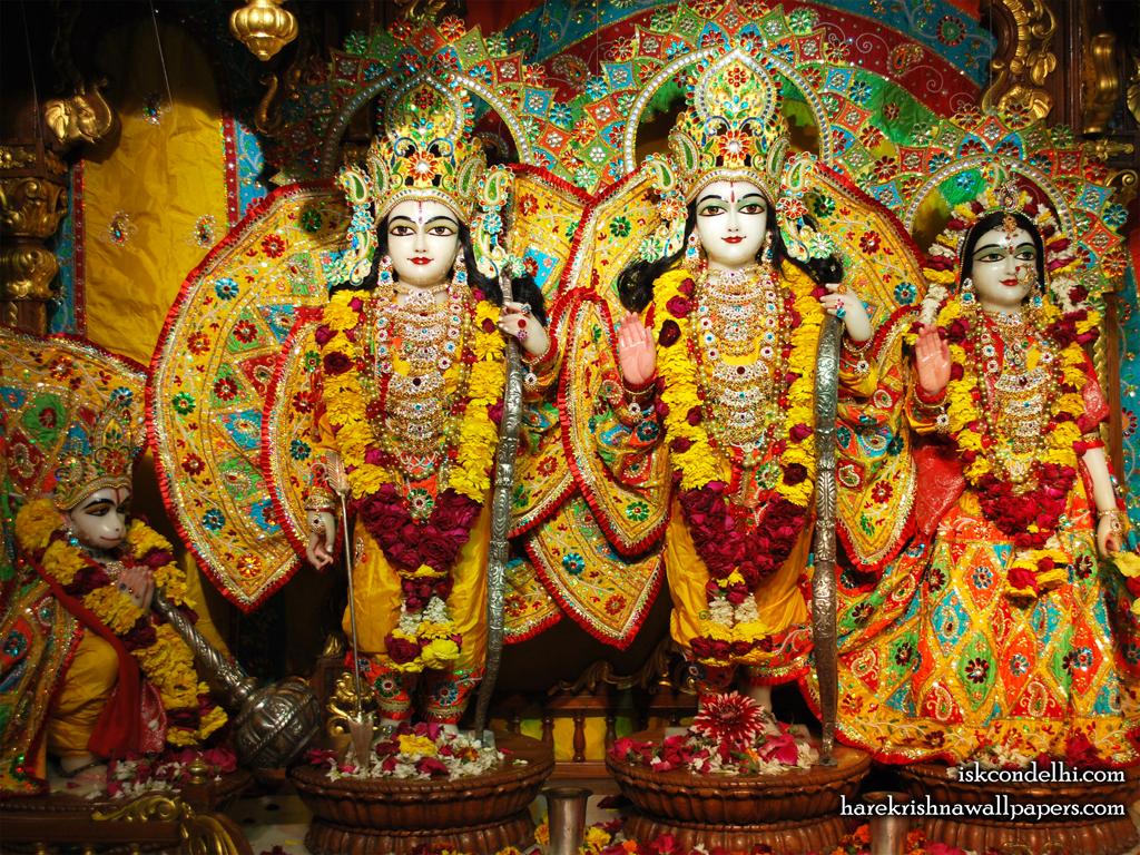 Sri Sri Sita Rama Laxman Hanuman Wallpaper (006) Size 1024x768 Download