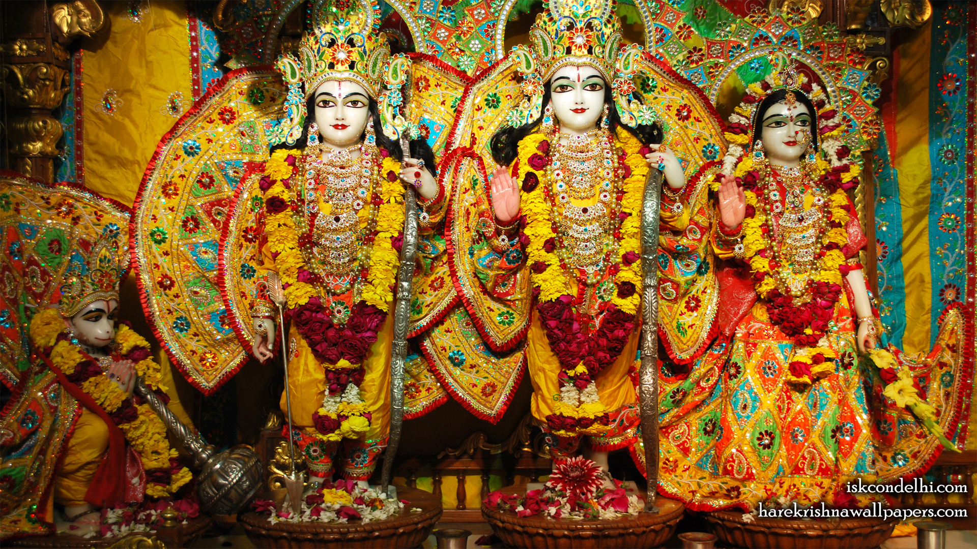 Sri Sri Sita Rama Laxman Hanuman Wallpaper (006) Size 1920x1080 Download