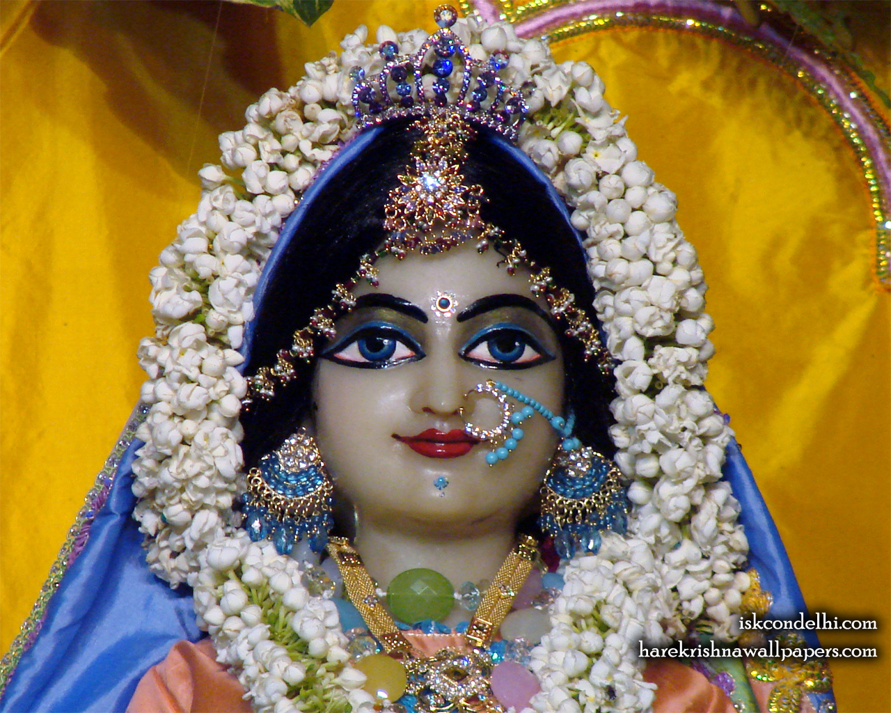 Sri Radha Close up Wallpaper (007) Size 1280x1024 Download