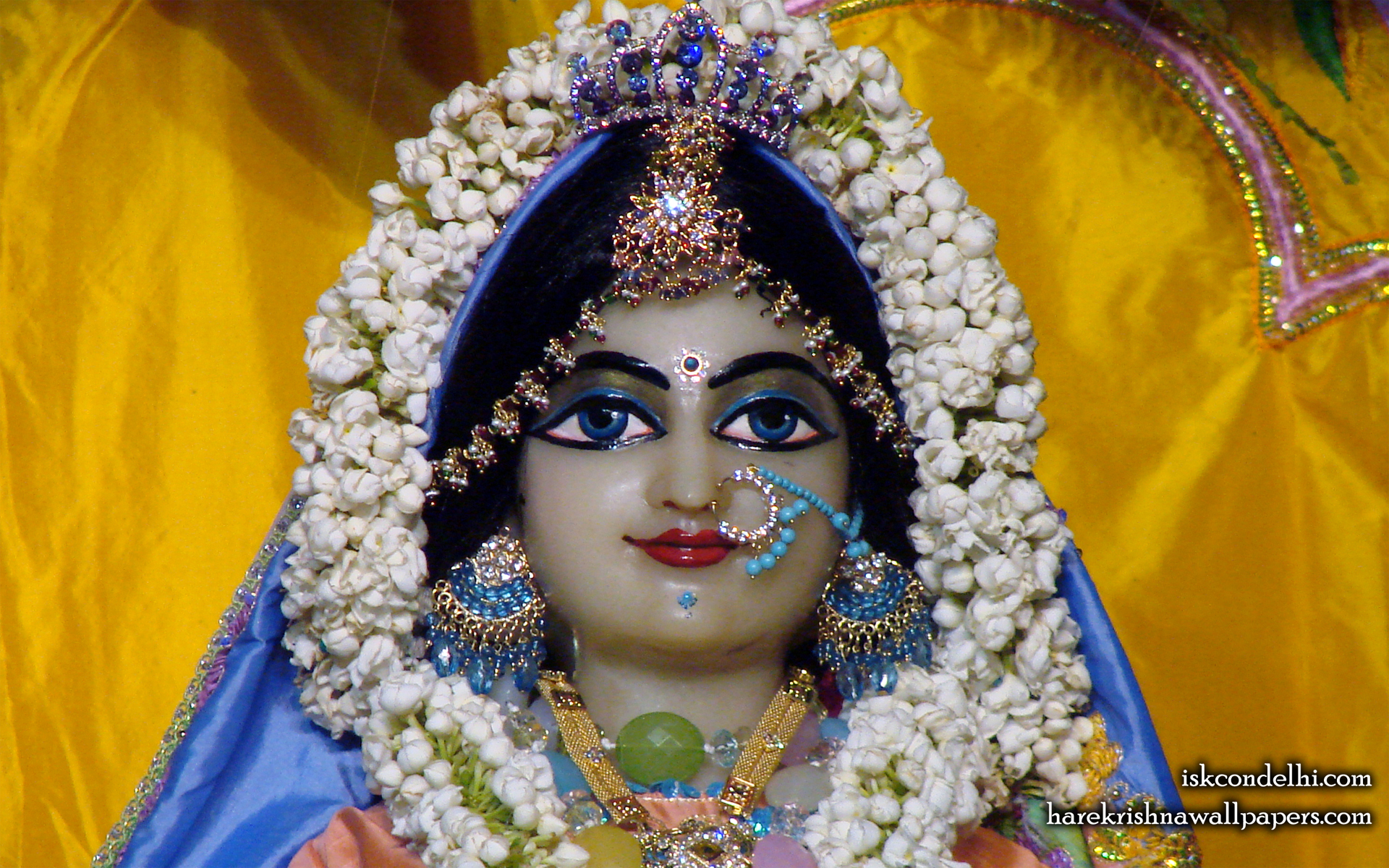 Sri Radha Close up Wallpaper (007) Size 1920x1200 Download