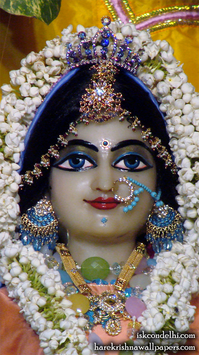 Sri Radha Close up Wallpaper (007) Size 675x1200 Download