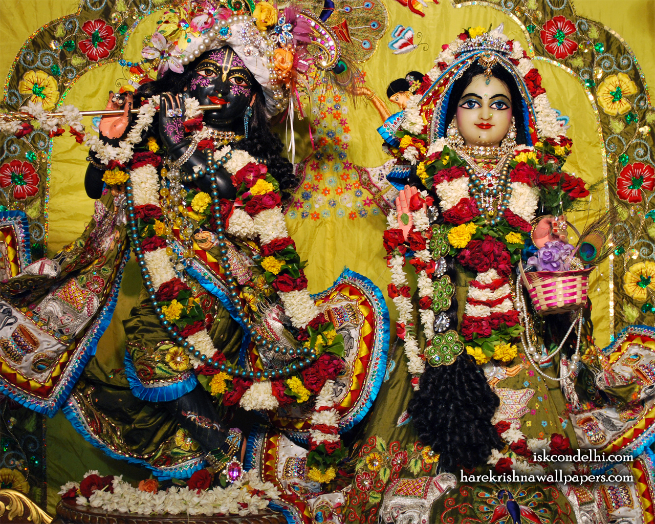 Sri Sri Radha Parthasarathi Wallpaper (007) Size 1280x1024 Download