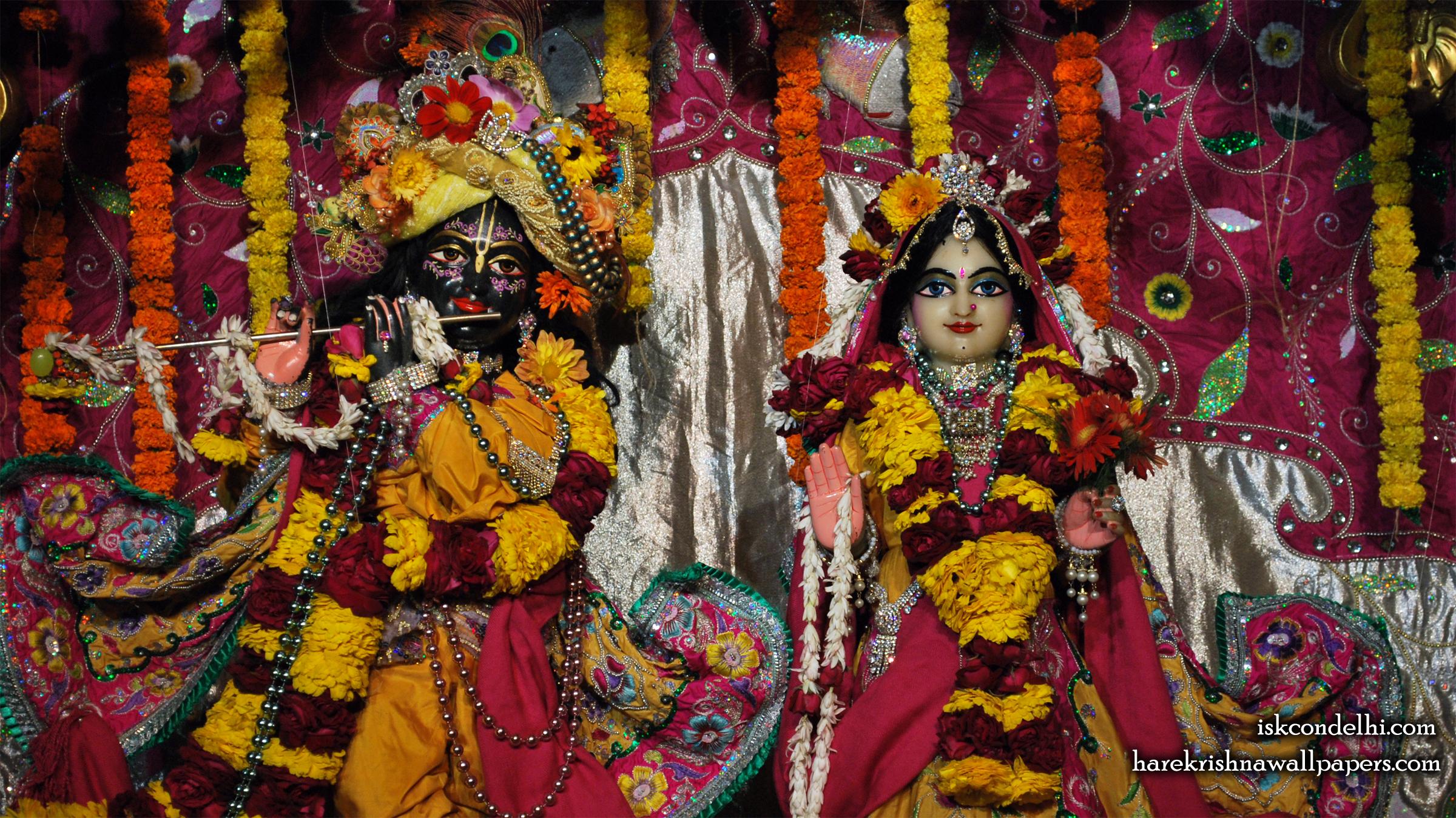 Sri Sri Radha Parthasarathi Close up Wallpaper (007) Size 2400x1350 Download