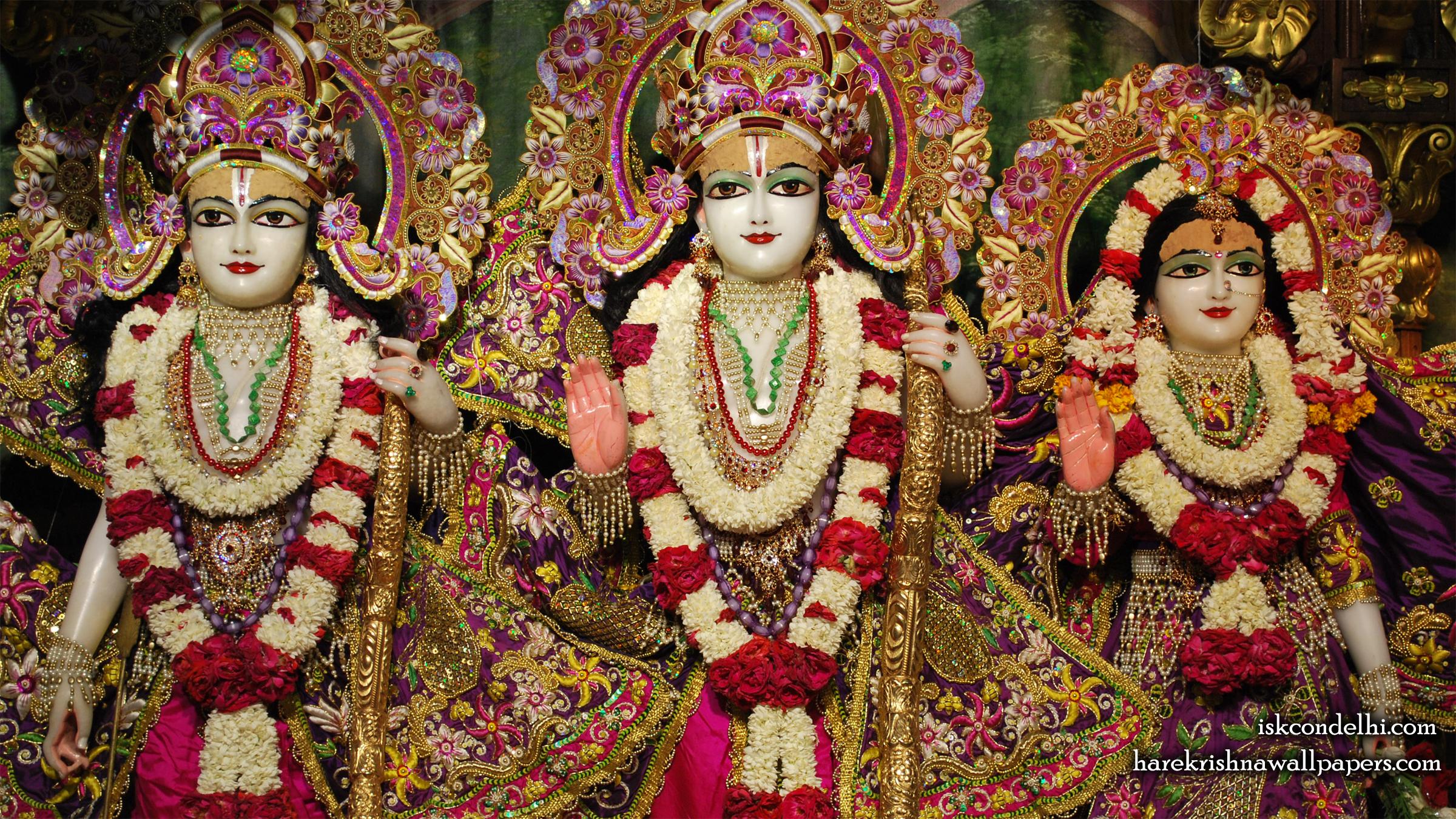 Sri Sri Sita Rama Laxman Wallpaper (007) Size 2400x1350 Download