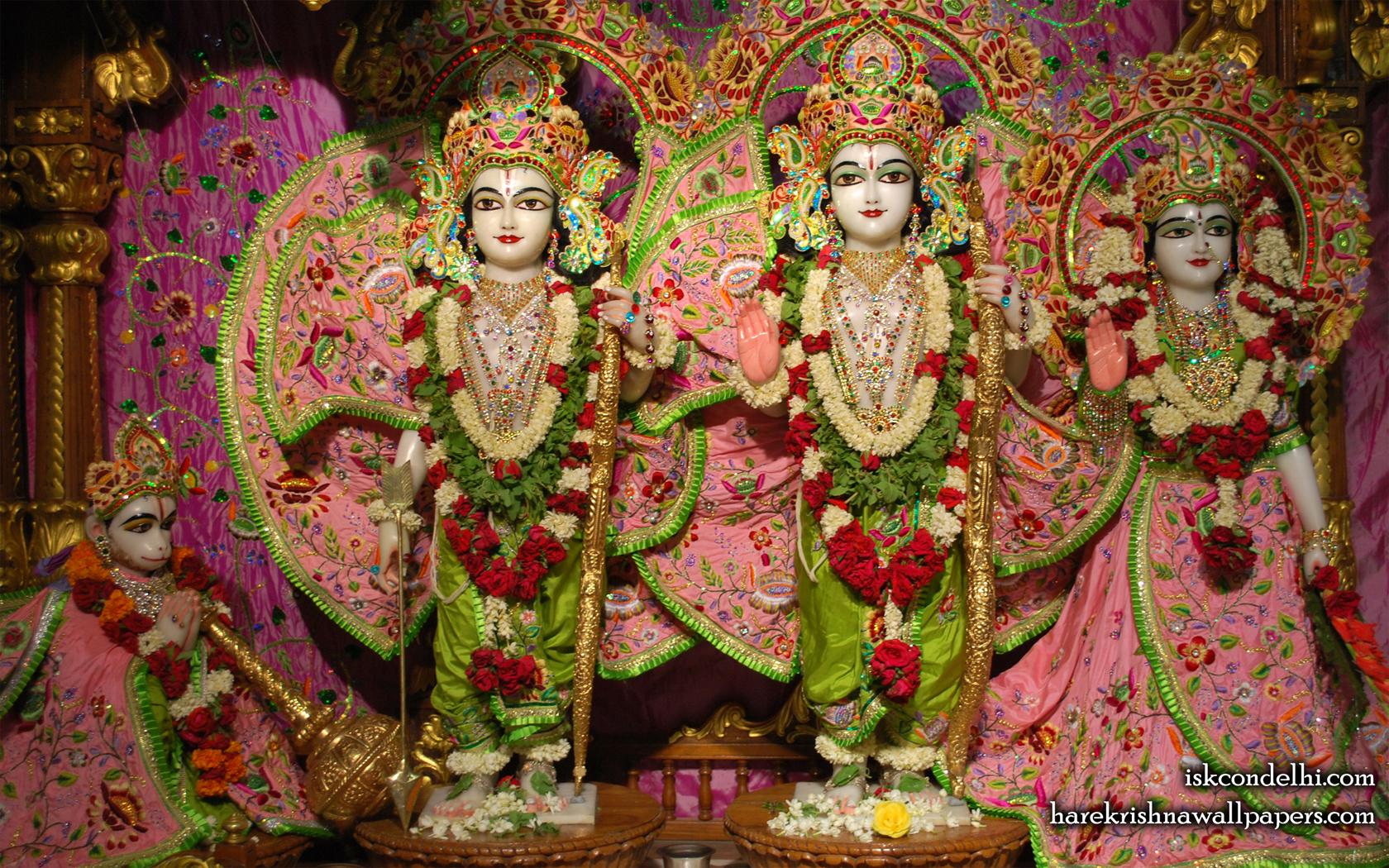 Sri Sri Sita Rama Laxman Hanuman Wallpaper (007) Size 1680x1050 Download