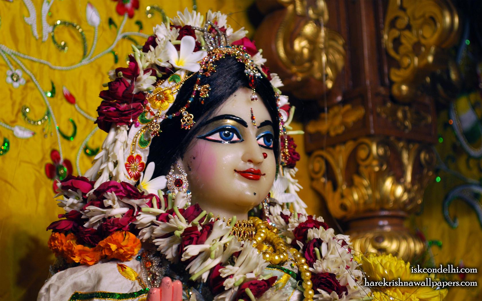 Sri Radha Close up Wallpaper (008) Size 1680x1050 Download
